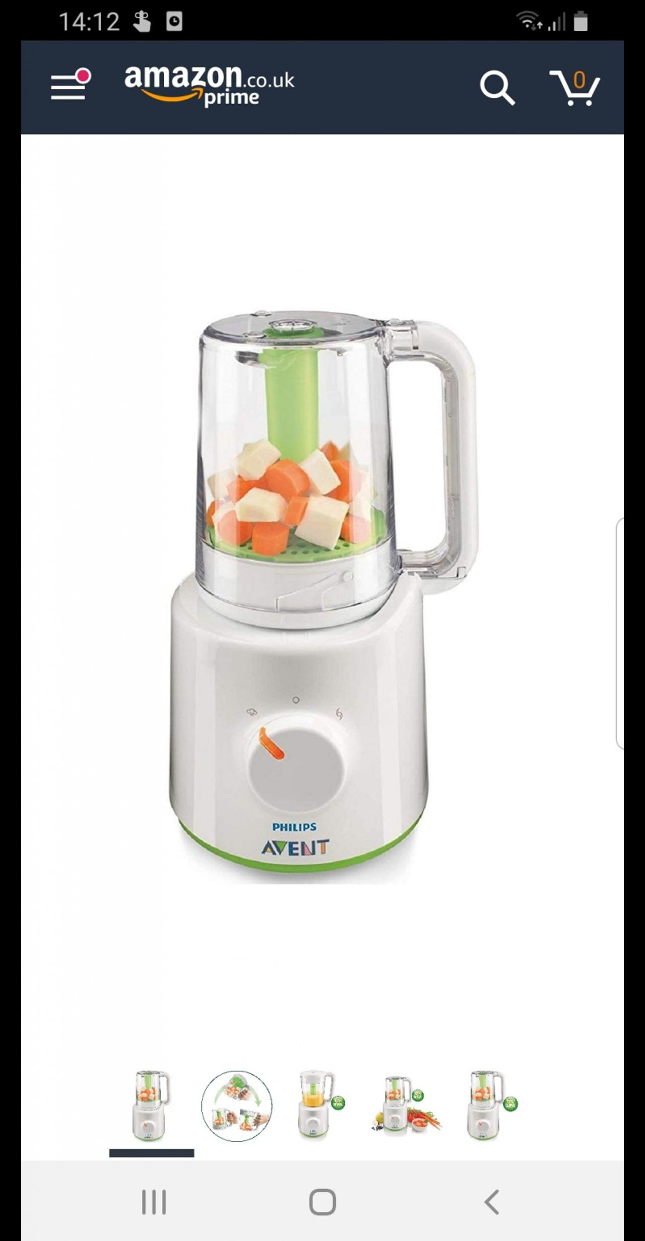 Philips Avent Baby Food Steamer And Blender In B13