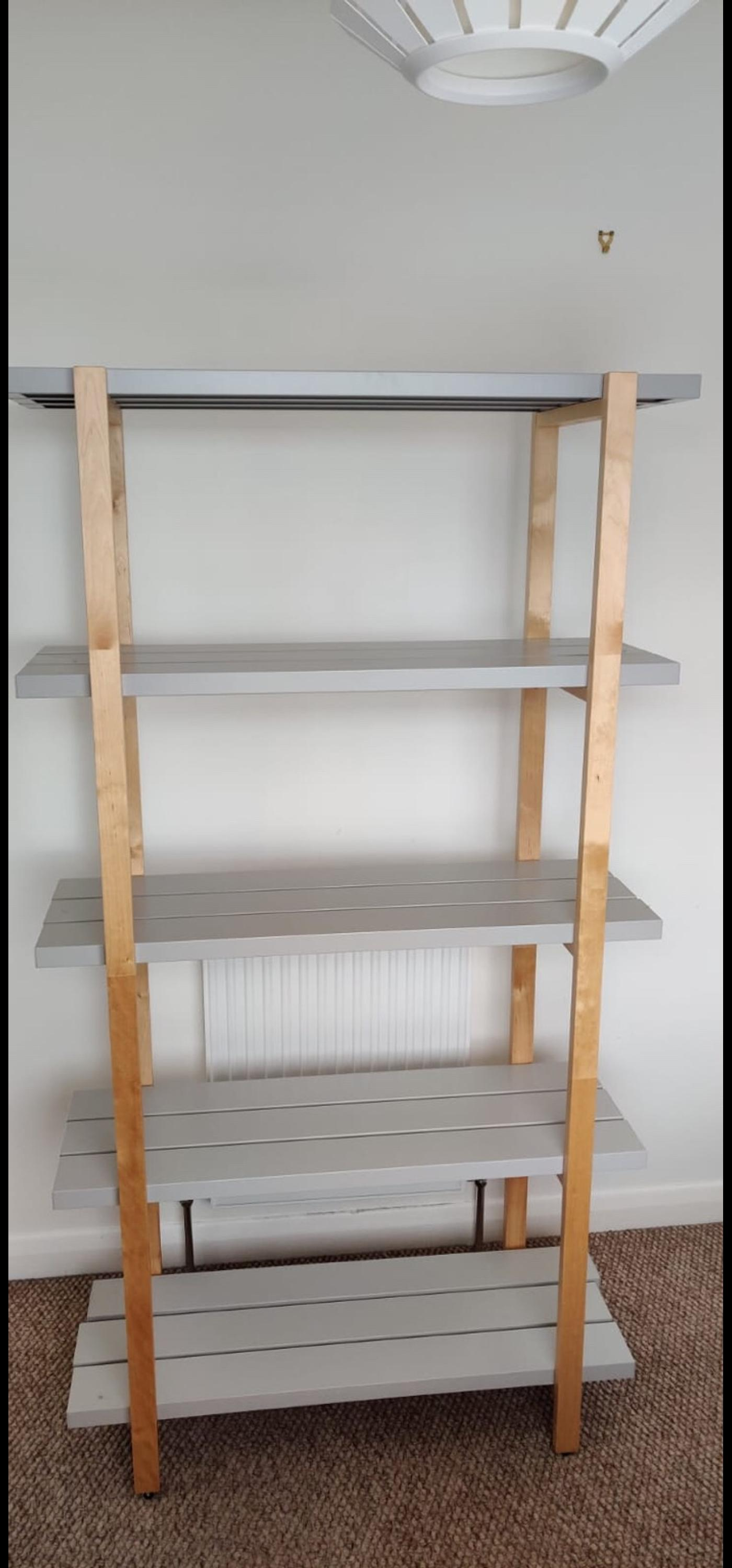 Grey And Wood Ikea Ypperling Shelves In So41 Forest Fur 30 00