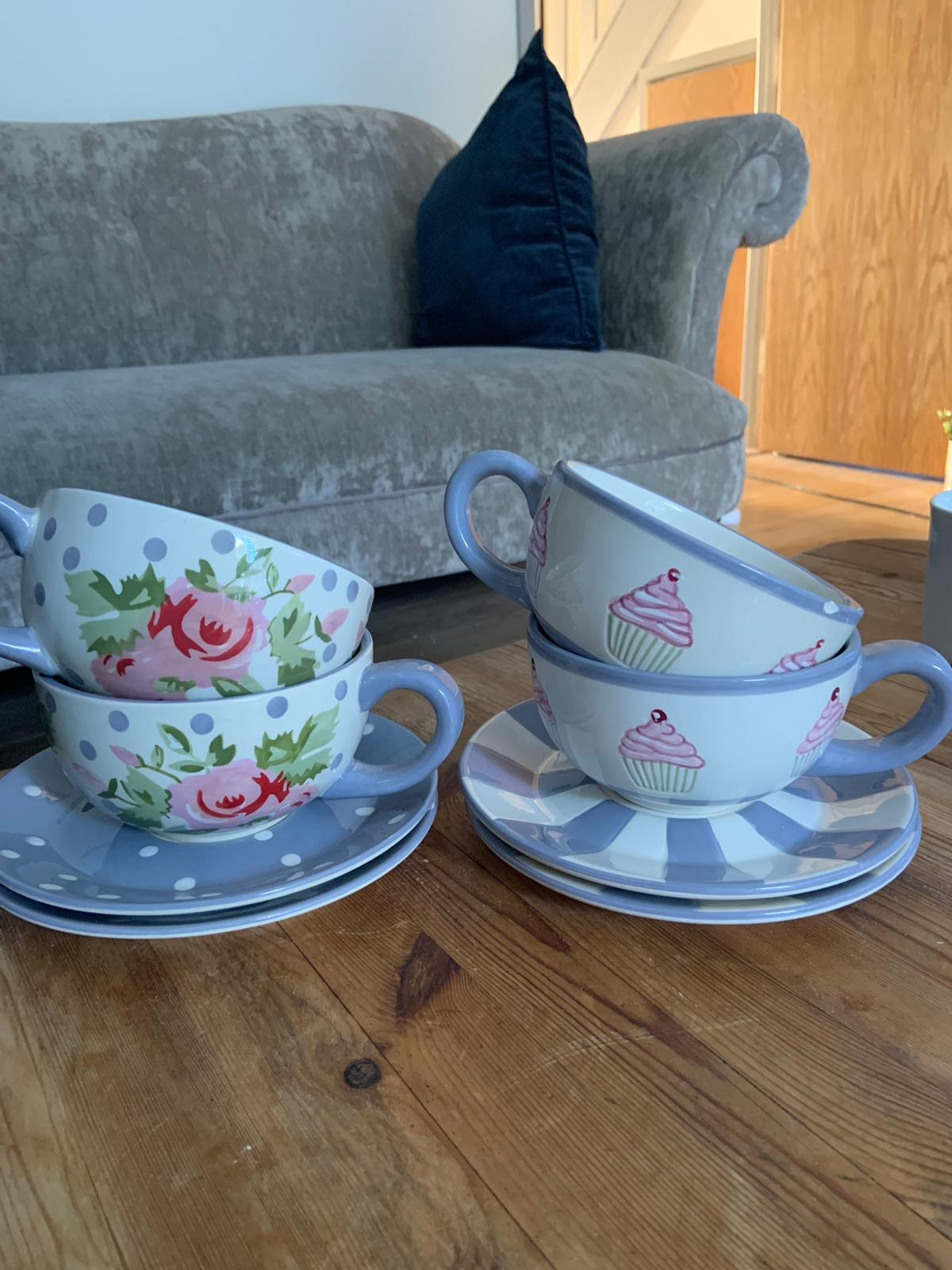 Large Mugs A Saucer In Rh15 Hill For 2 00 For Sale Shpock