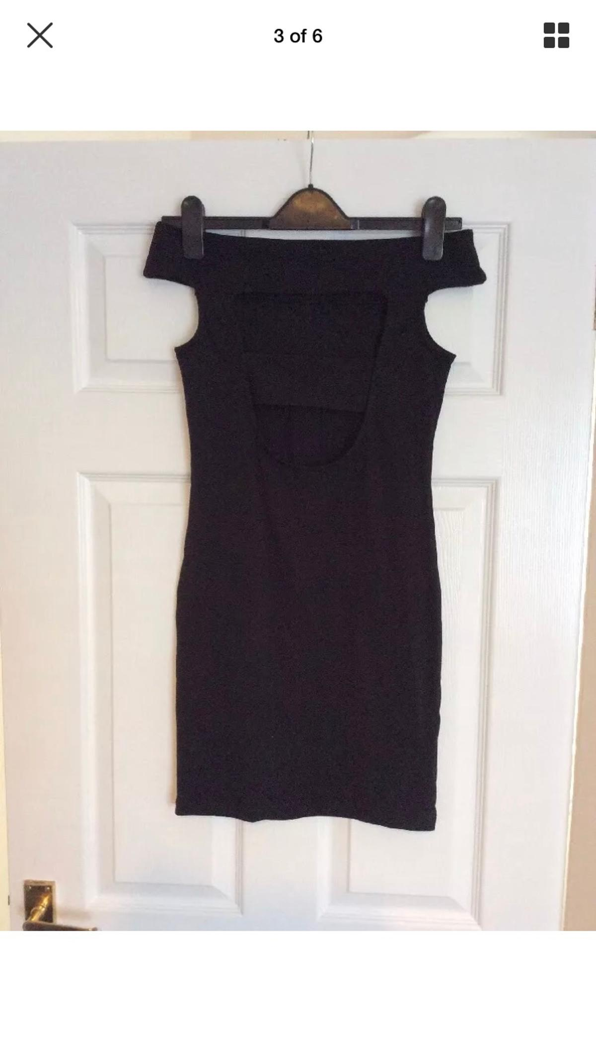 Bnwt Brand New Asos Black Zara Strap Back Bardot PLT Dress Size 8 RRP £32 ⚠️ NO OFFERS! 🙏💗 ❤️ Check out my other items.... you will not be disappointed! ❤️ 5 ⭐️ reviews due to many happy buyers who keep returning. New items added daily.. 👛👠👗👙👖💌 From a clean, pet & smoke free home 🏠 Selling loads more bargains 💰👀 Take a look 👀💗