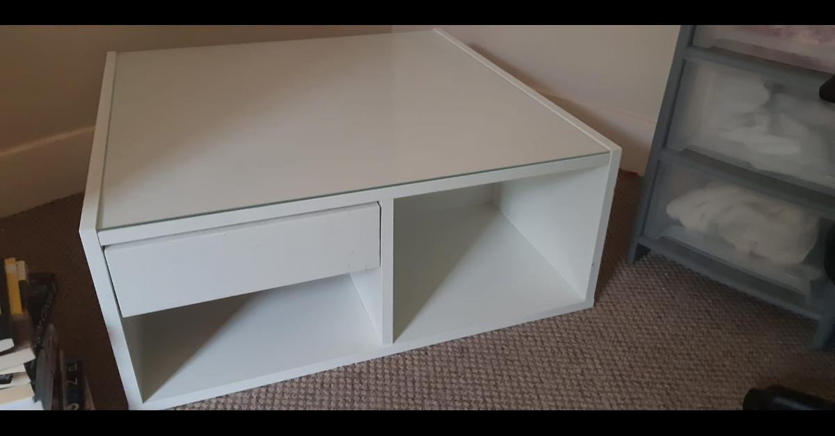 Ikea Boksel Coffee Table White