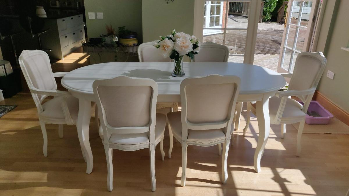 French Style White Dining Table
