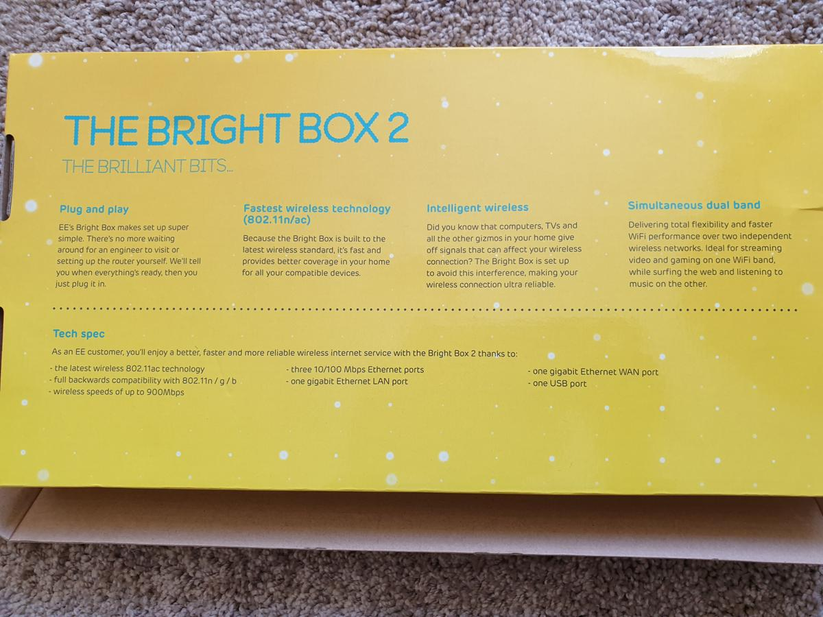 EE Bright Box 2 wireless router in BS22
