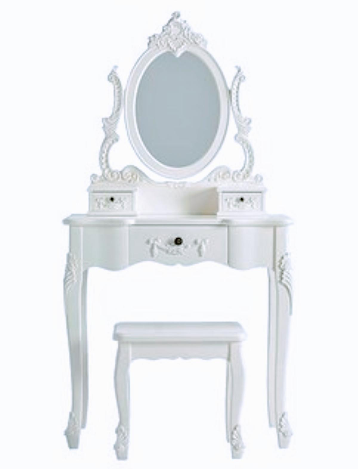 Superb White Dressing Table Mirror And Stool Squirreltailoven Fun Painted Chair Ideas Images Squirreltailovenorg