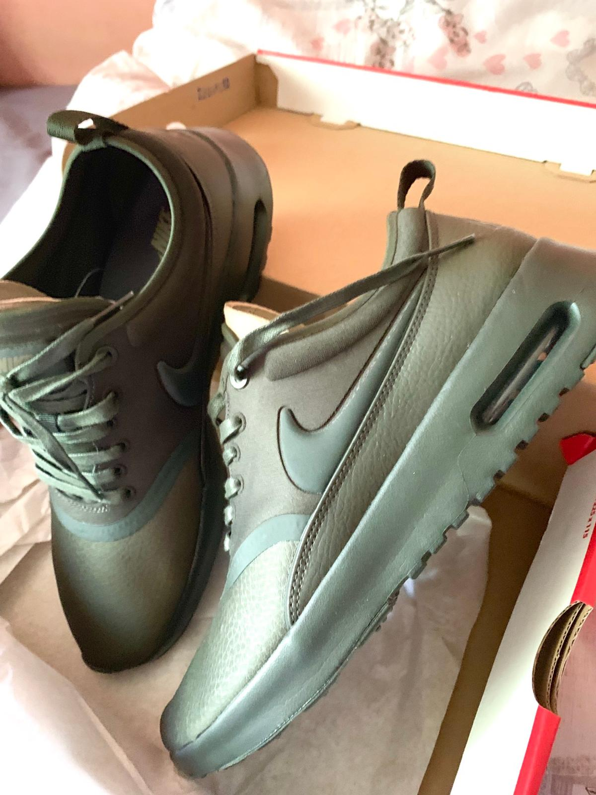Nike Air Max Thea Premium Olive Green Trainers Shoes Buy