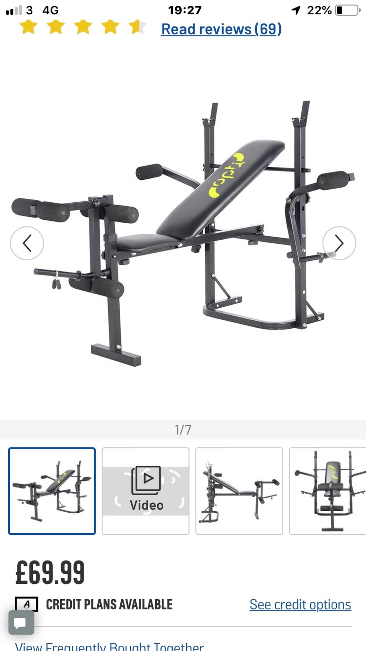 Opti Butterfly Workout Bench Brand New In Hand