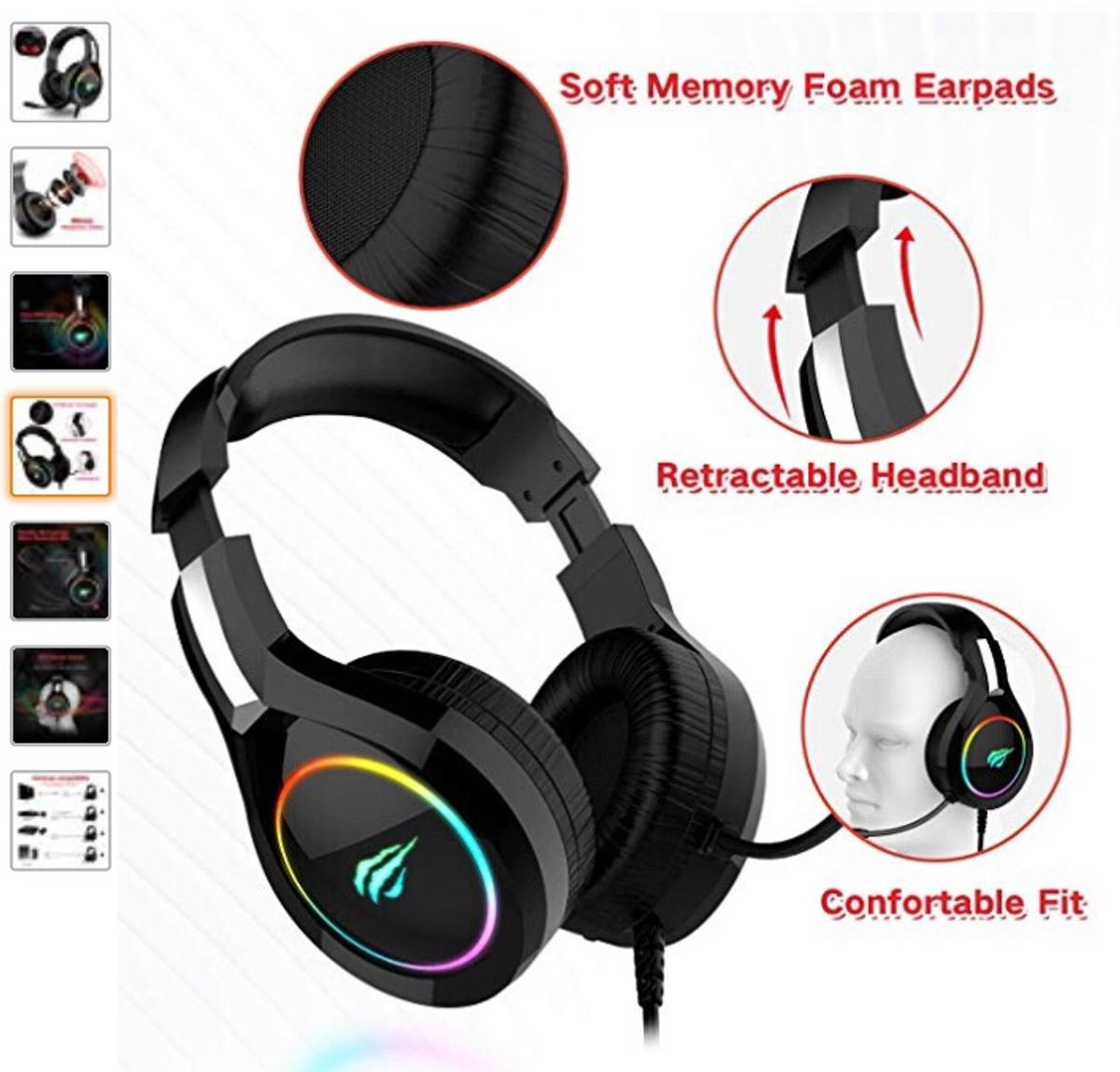 HAVIT RGB Wired Gaming Headset PC in CF35 Coychurch for