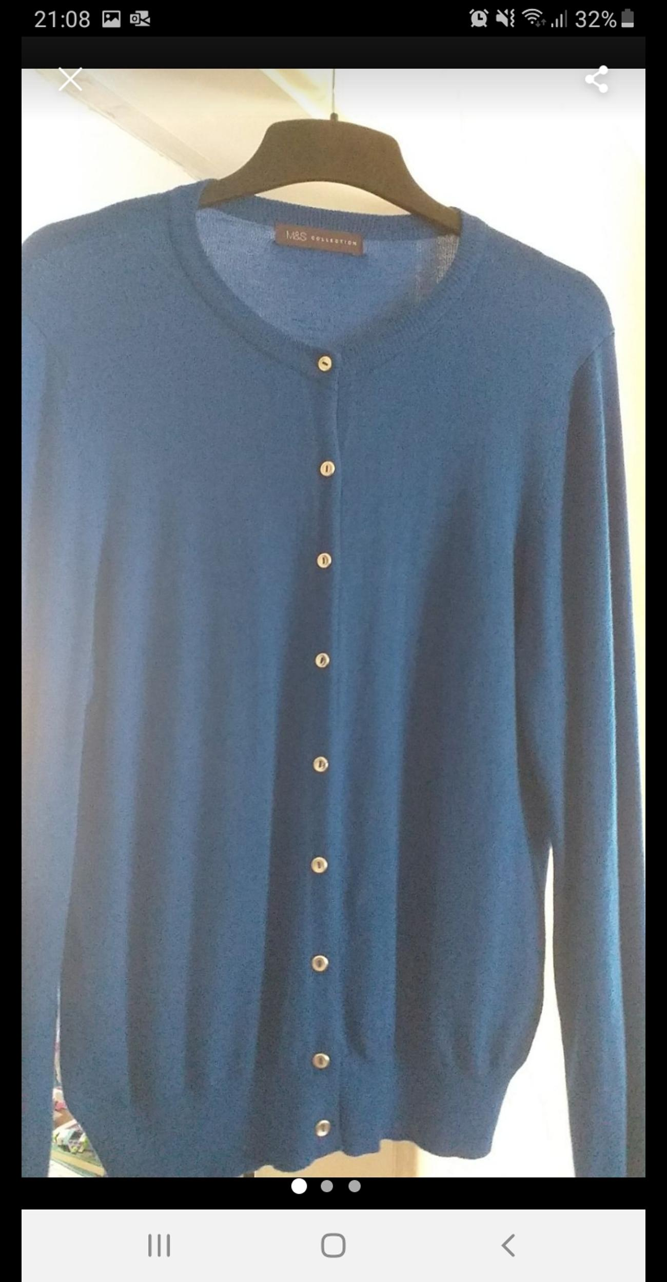 M&S cardigan royal blue new without tag