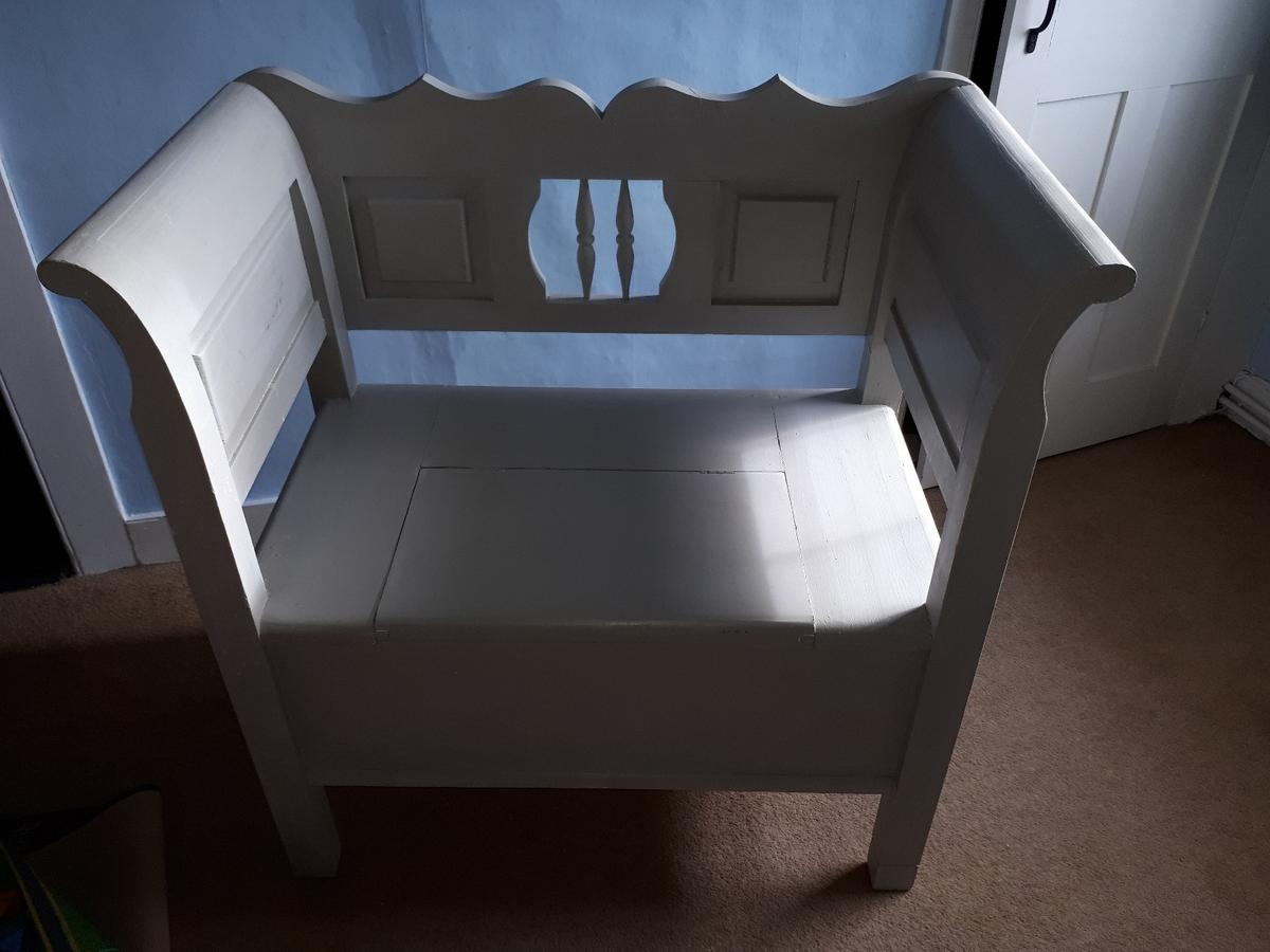 Superb Grey Solid Wood Storage Bench Gamerscity Chair Design For Home Gamerscityorg