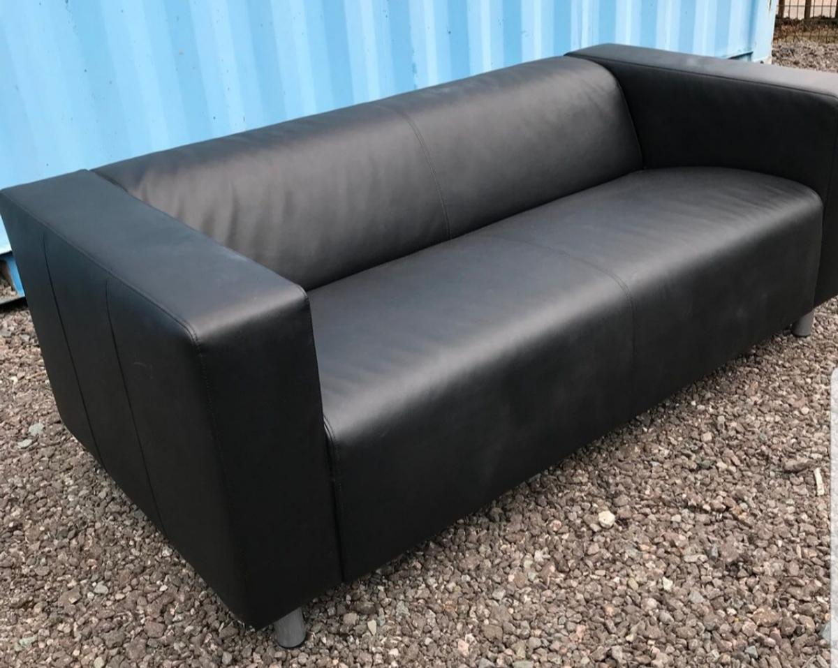 Pleasing 2 Seater Sofa Black Faux Leather Couch Bralicious Painted Fabric Chair Ideas Braliciousco