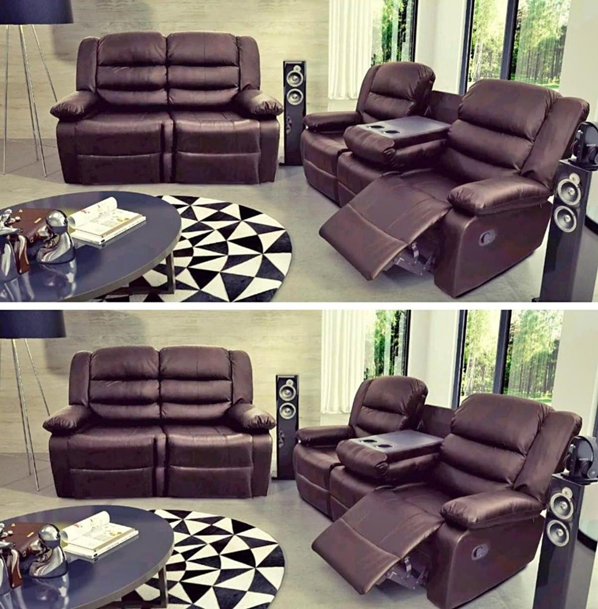 Surprising Brand New Brown 3 2 Recliner Leather Sofa Pabps2019 Chair Design Images Pabps2019Com