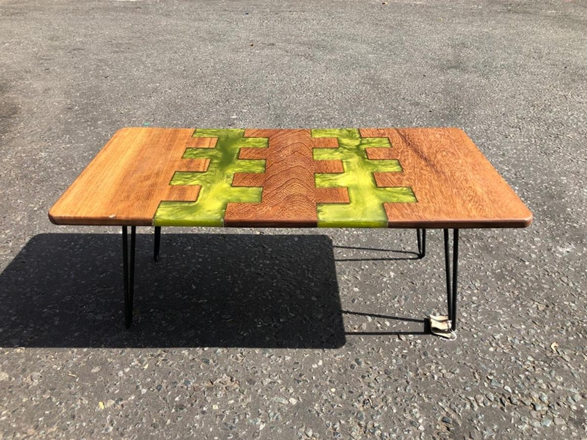 Picture of: Iroko Green Resin Hard Wood Coffee Table In Se24 London For 330 00 For Sale Shpock