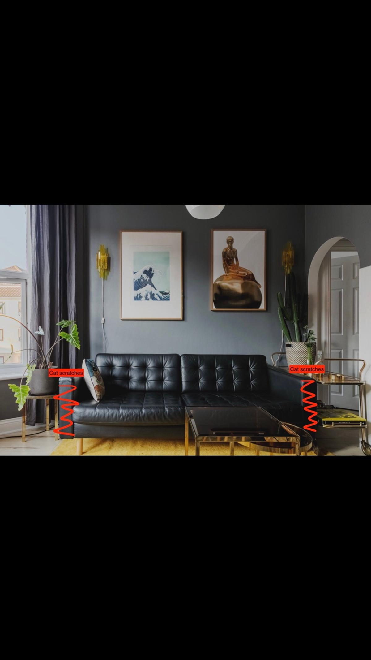 Brilliant Leather Sofa Ikea Landskrona Gmtry Best Dining Table And Chair Ideas Images Gmtryco