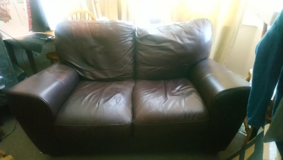 Chocolate Brown Two Seater 100 Leather