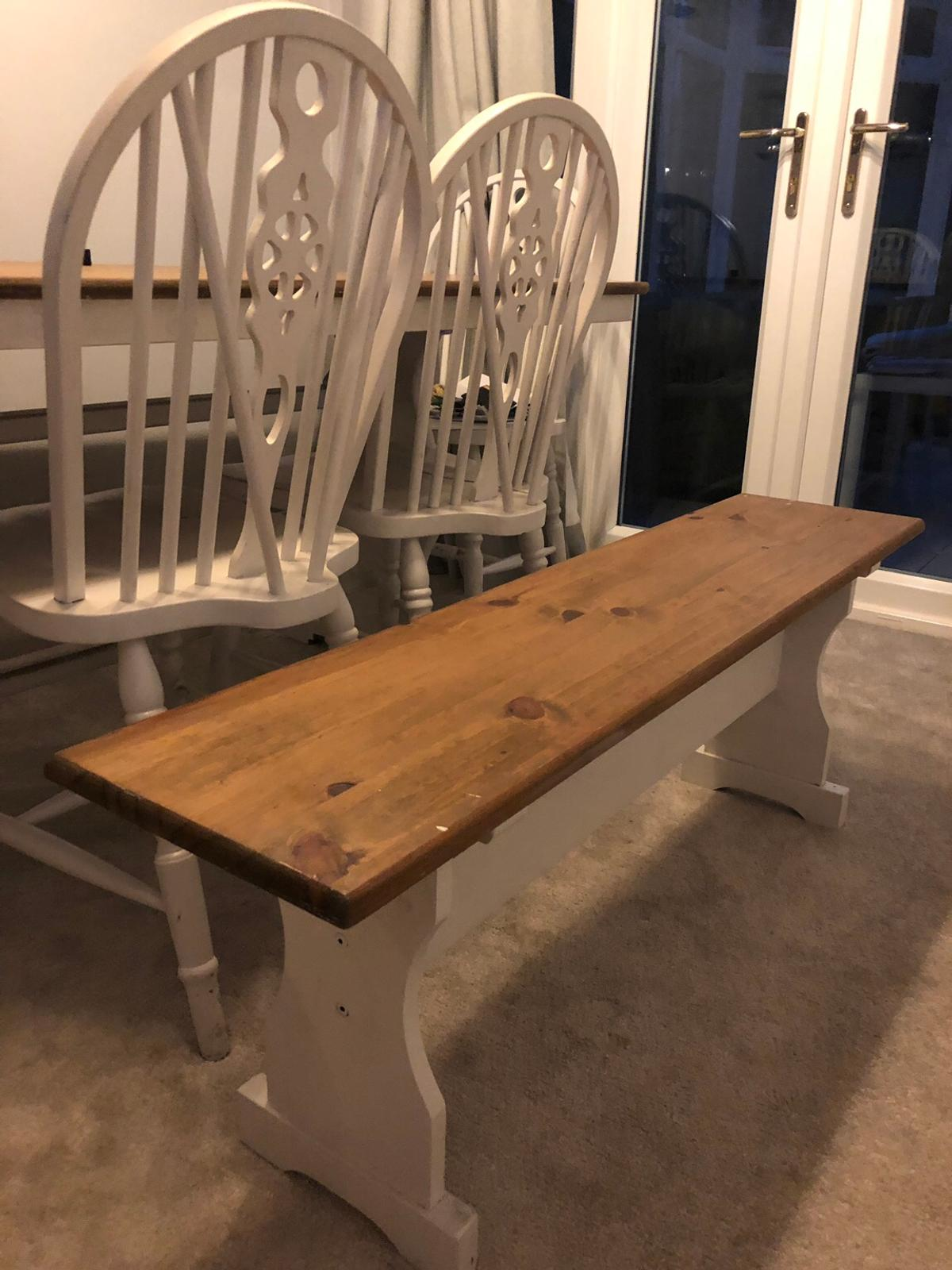 Shabby Chic Farmhouse Table 4 Chairs Bench In B91 Solihull For 150 00 For Sale Shpock