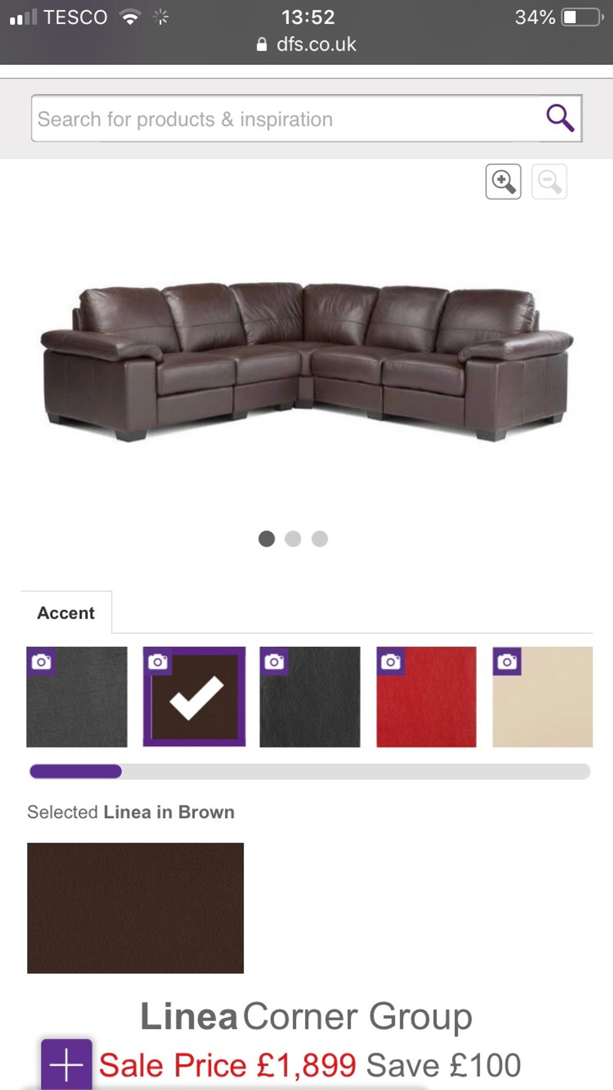 Fantastic Dfs Brown Leather Corner Sofa Settee Squirreltailoven Fun Painted Chair Ideas Images Squirreltailovenorg