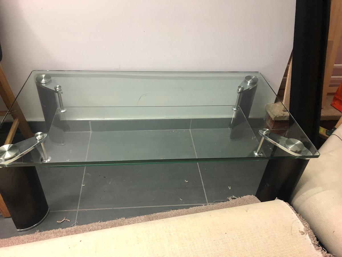 Heavy Duty Glass Wood Coffee Table In Wf2 Wakefield For 20 00 For
