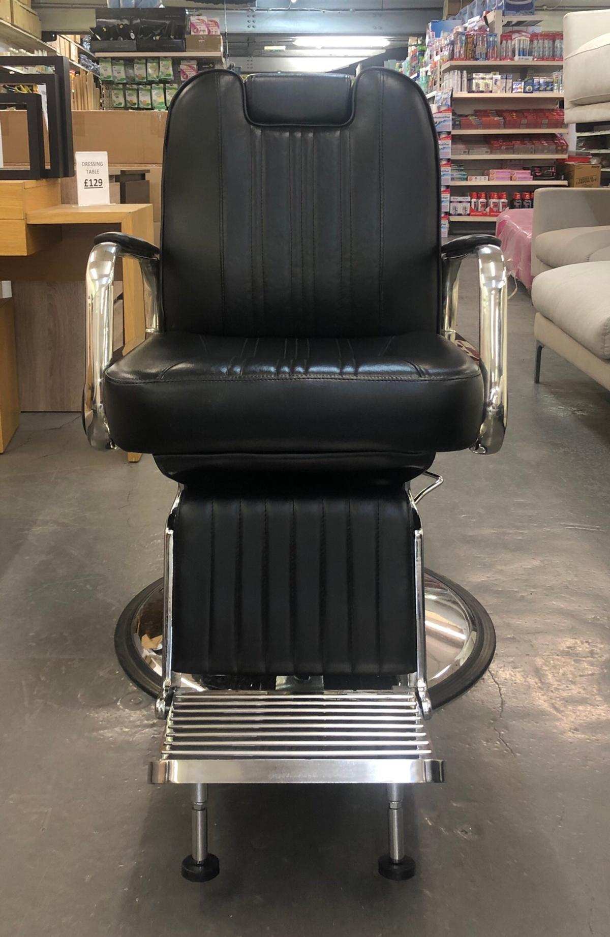 Enjoyable Black Leather Barber Chair Gmtry Best Dining Table And Chair Ideas Images Gmtryco