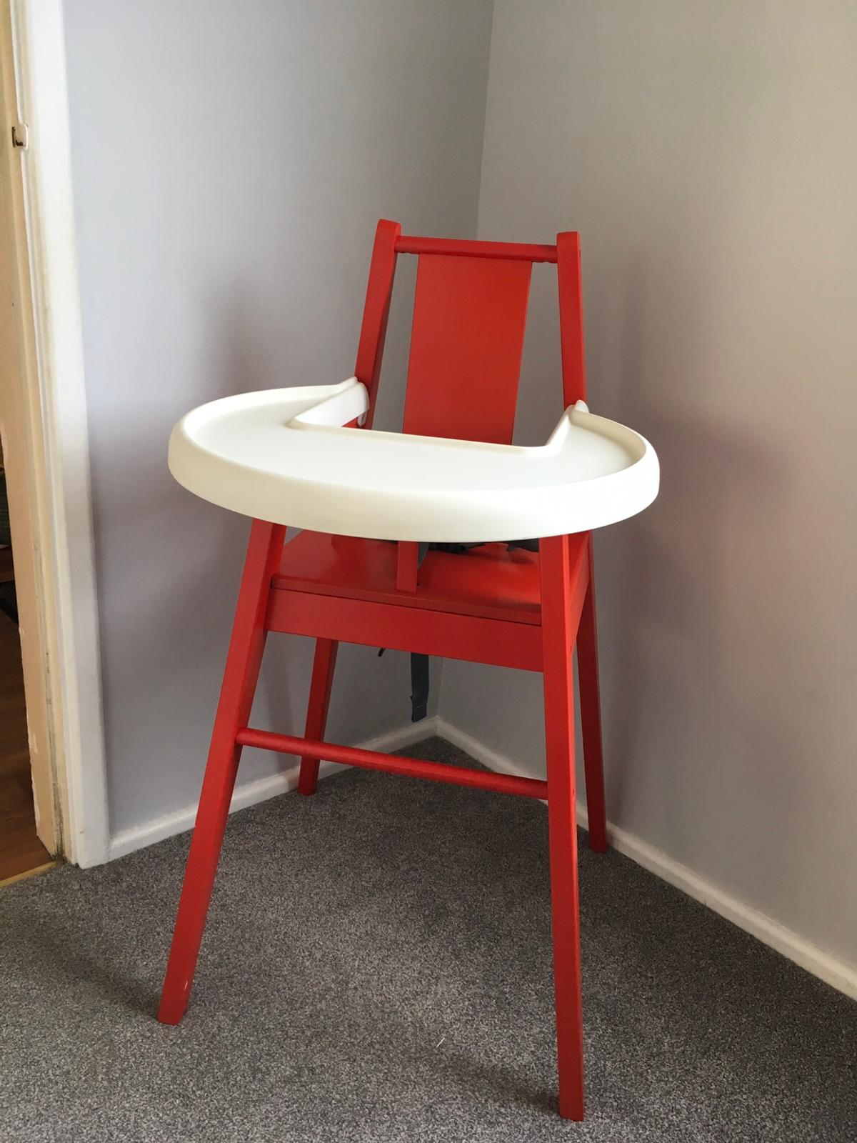 Ikea High Chair Red Wooden In North Cave For 10 00 For Sale Shpock