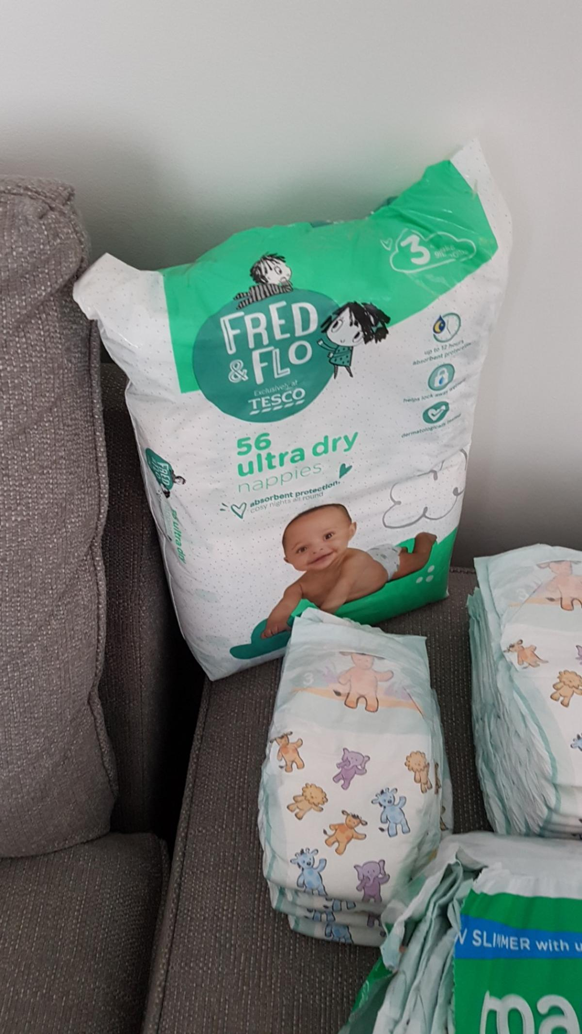 Brand new unopened size 3, 4-9kg Tesco Disposable Nappies