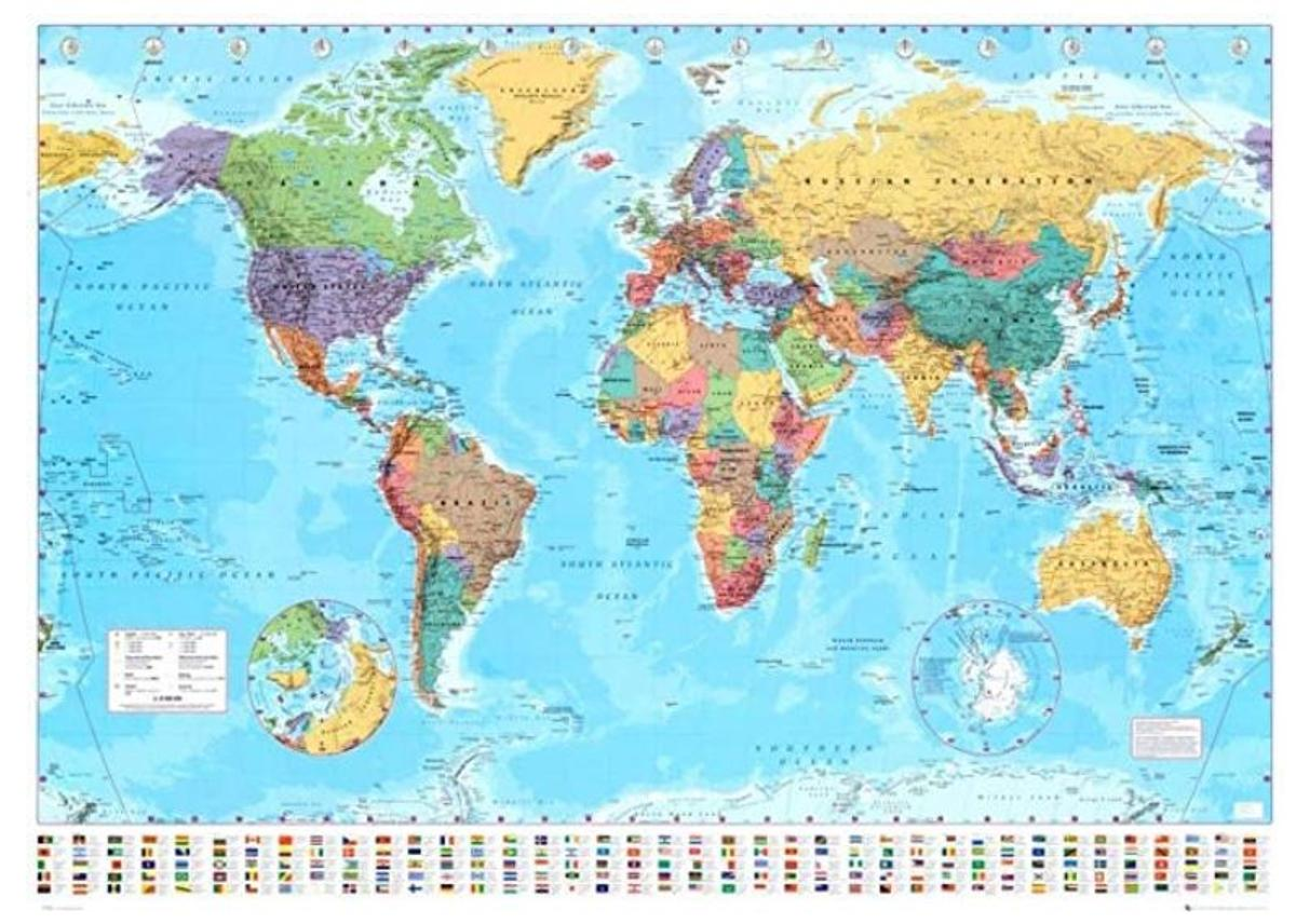 Giant World Map Poster