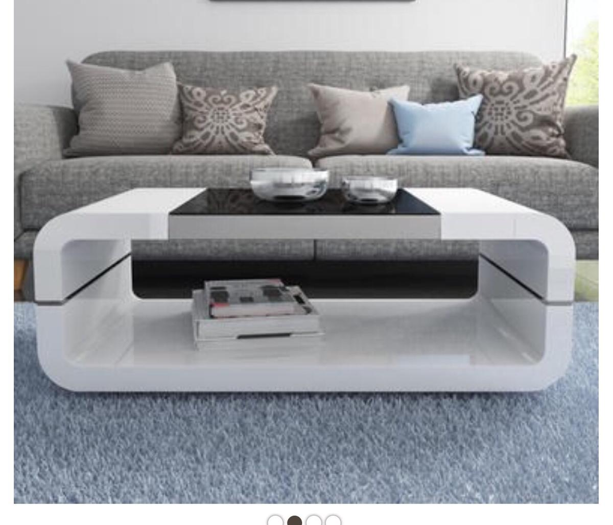 White Gloss Coffee Table In Le3 Frith