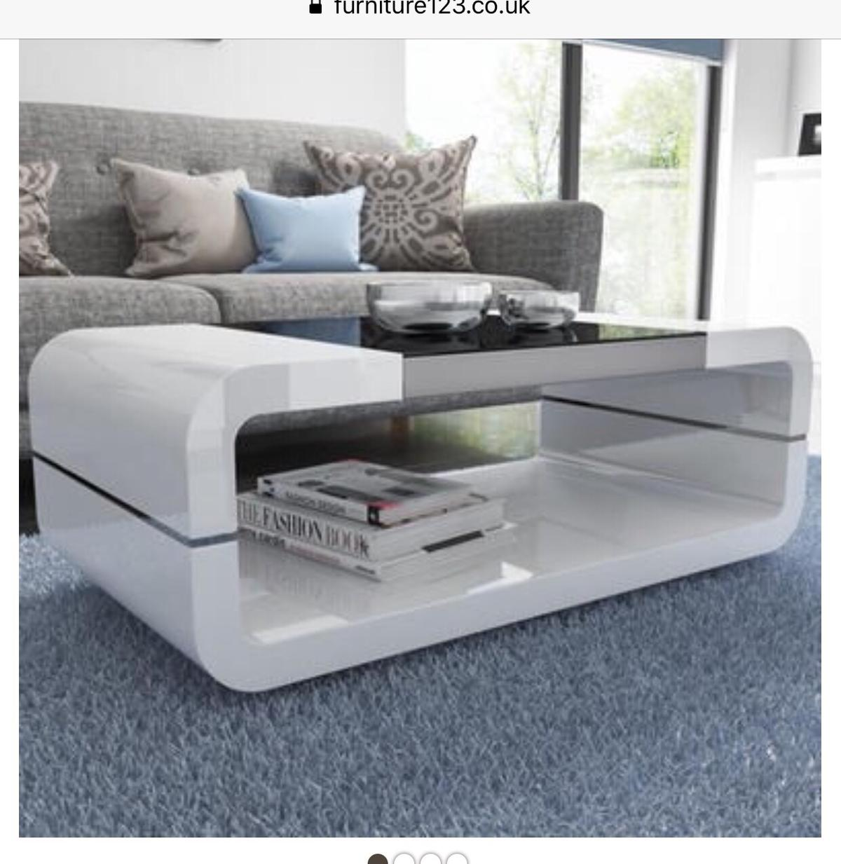 White Gloss Coffee Table In Le3 Frith For 80 00