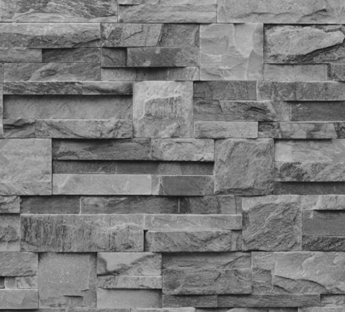 Grey Slate Brick Effect Wallpaper In E16 Newham For 5 00 For Sale Shpock
