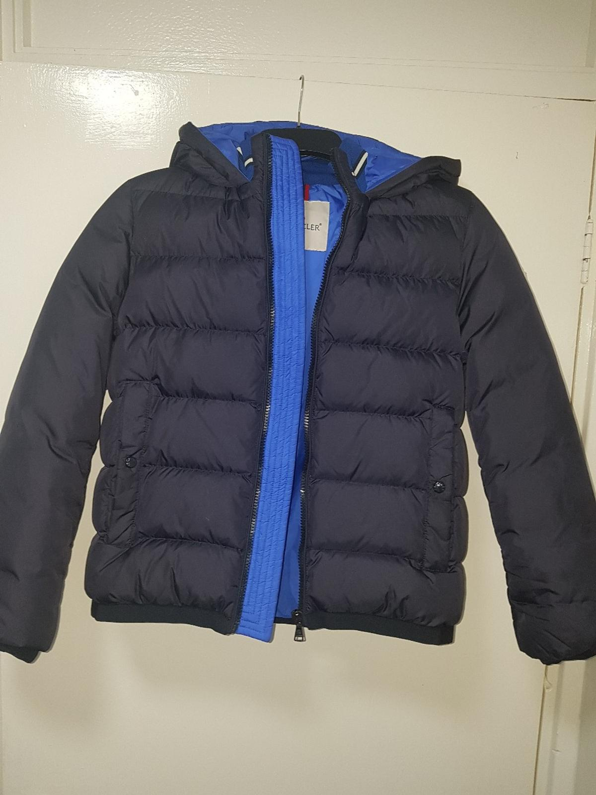 boys age 12 navy moncler coat in L5 Liverpool for £120.00