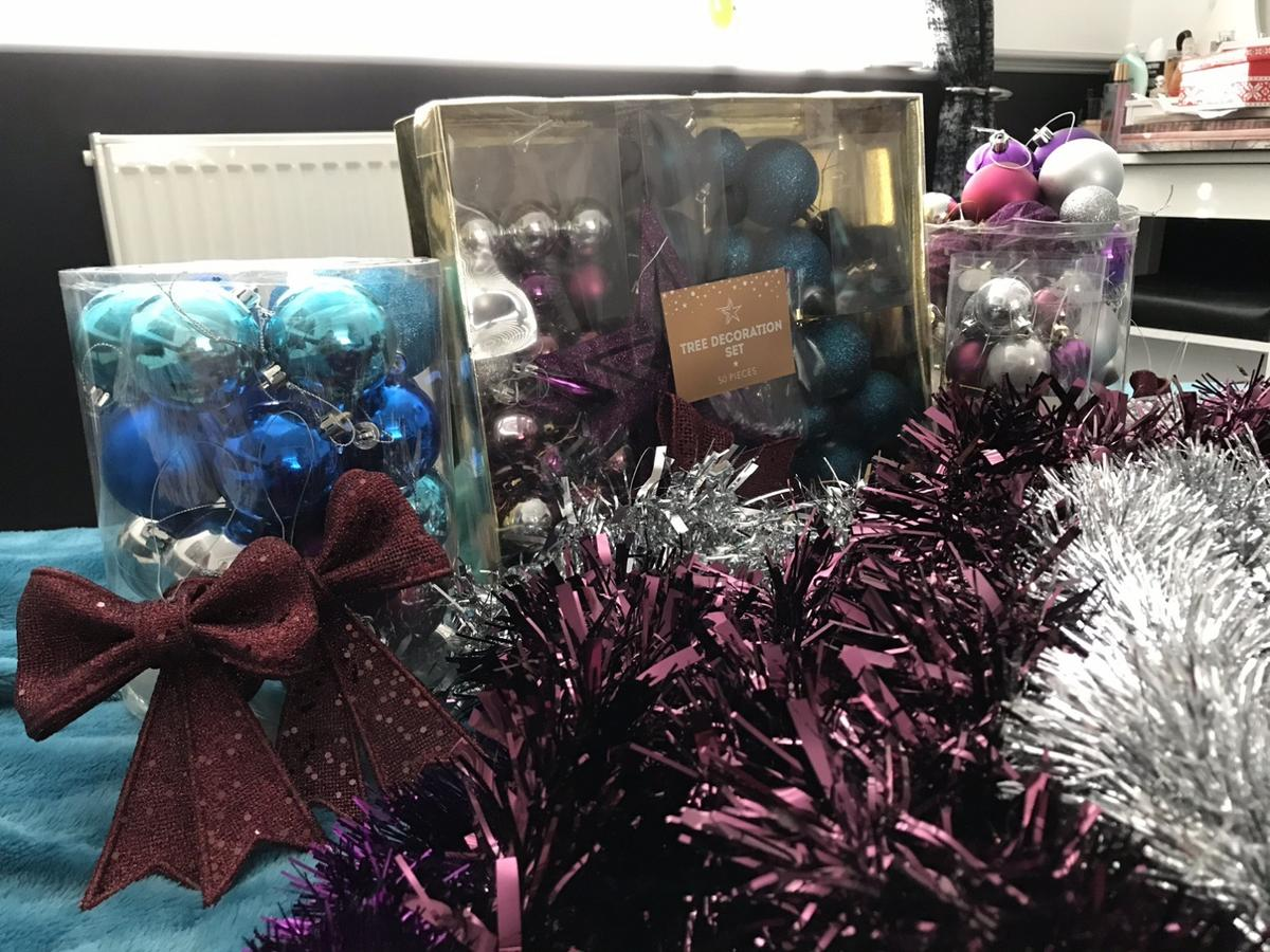 Blue Purple And Silver Christmas Decorations In S62 Rotherham For 12 00 For Sale Shpock
