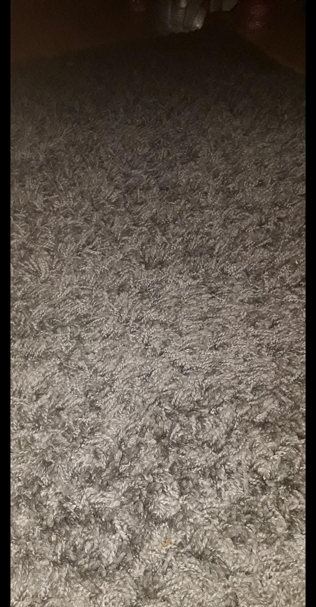 extra large grey shaggy rug in B17