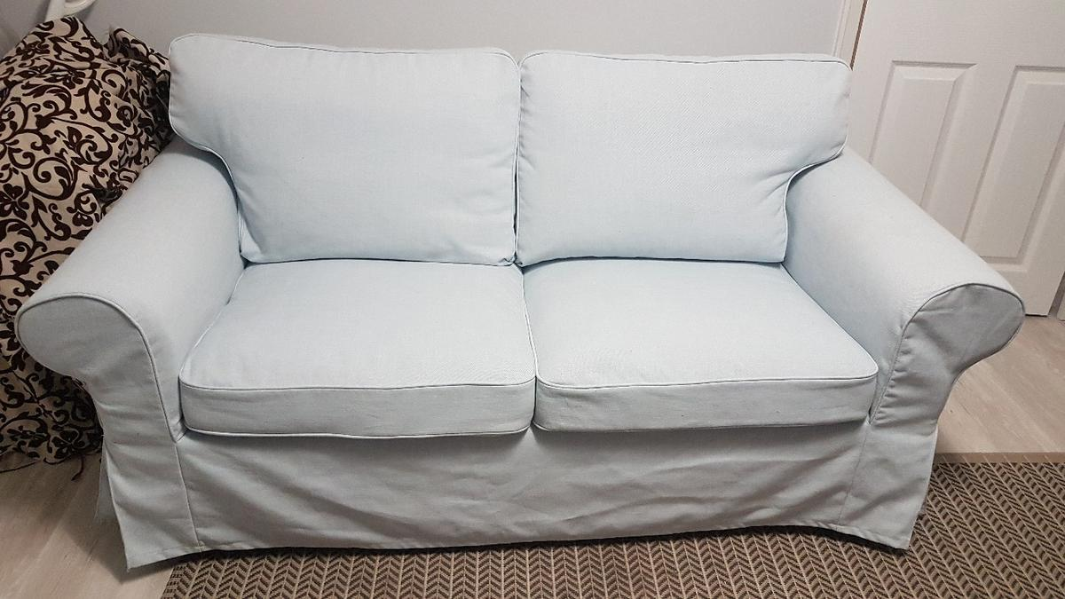Picture of: Ikea Ektorp 2 Seater Sofa Cover Light Blue In B43 Sandwell For 80 00 For Sale Shpock