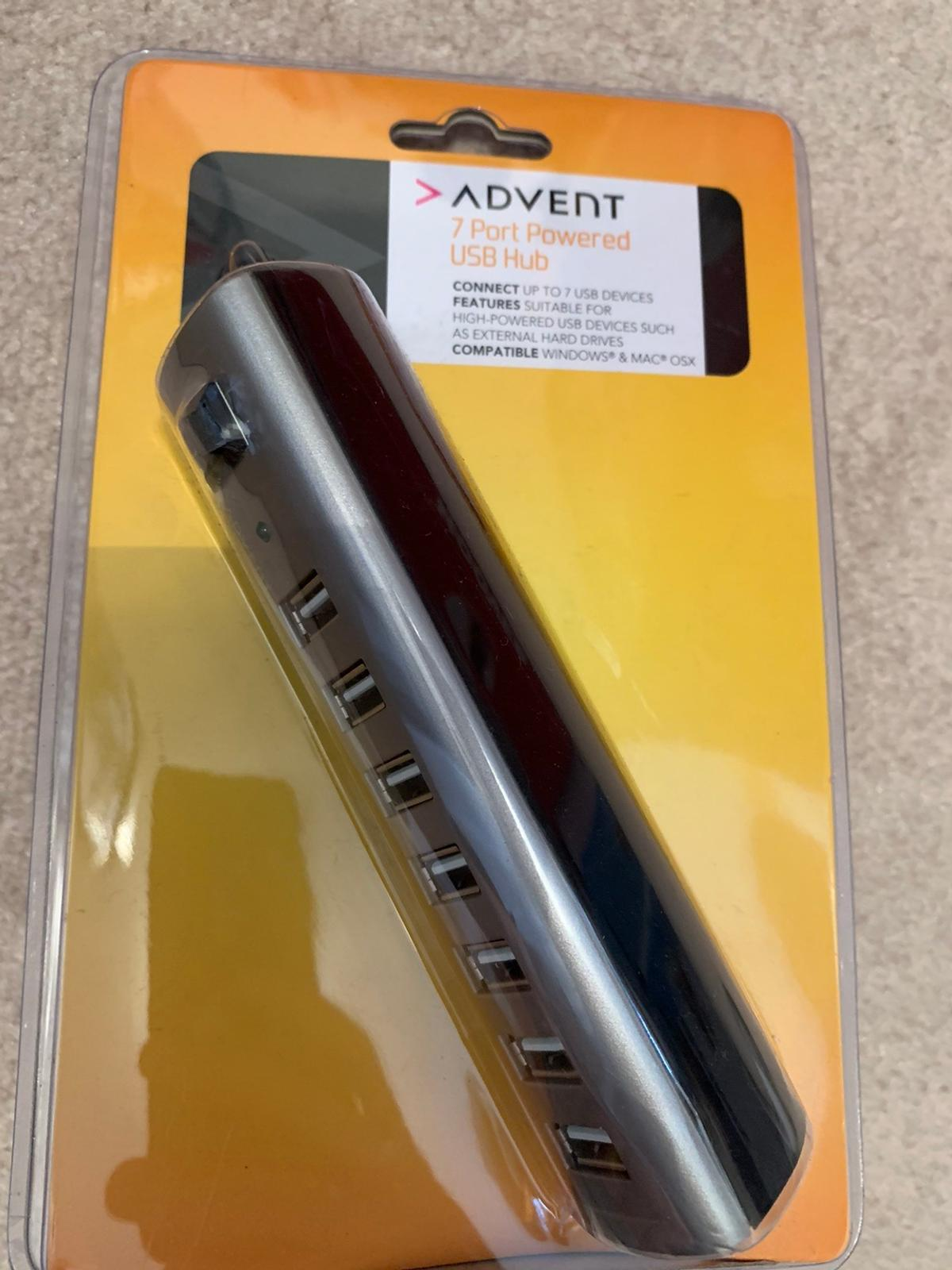 advent 7 port powered usb hub in b31 birmingham for for sale shpock