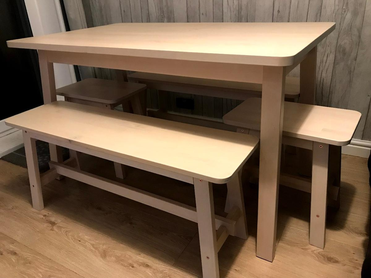 Ikea Dining Table And Bench Set In Bb5