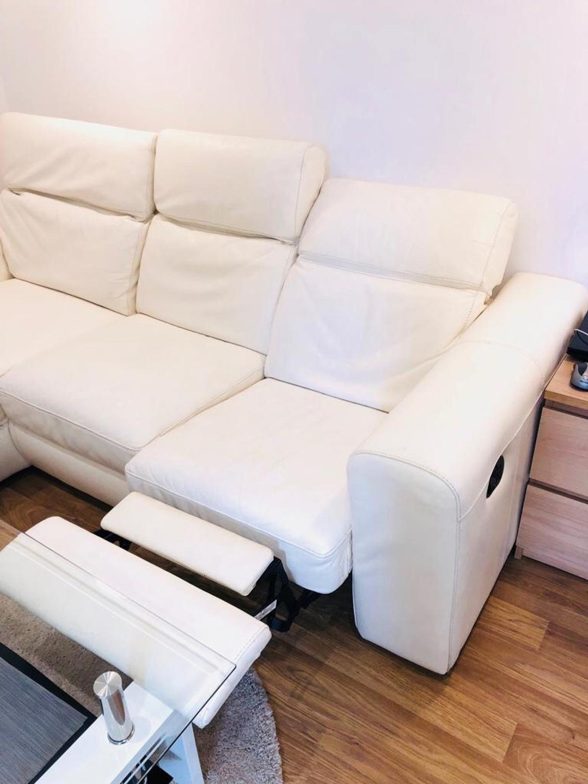 Excellent Leather Corner Sofa Footstool In Sm6 8Ns London For Pdpeps Interior Chair Design Pdpepsorg