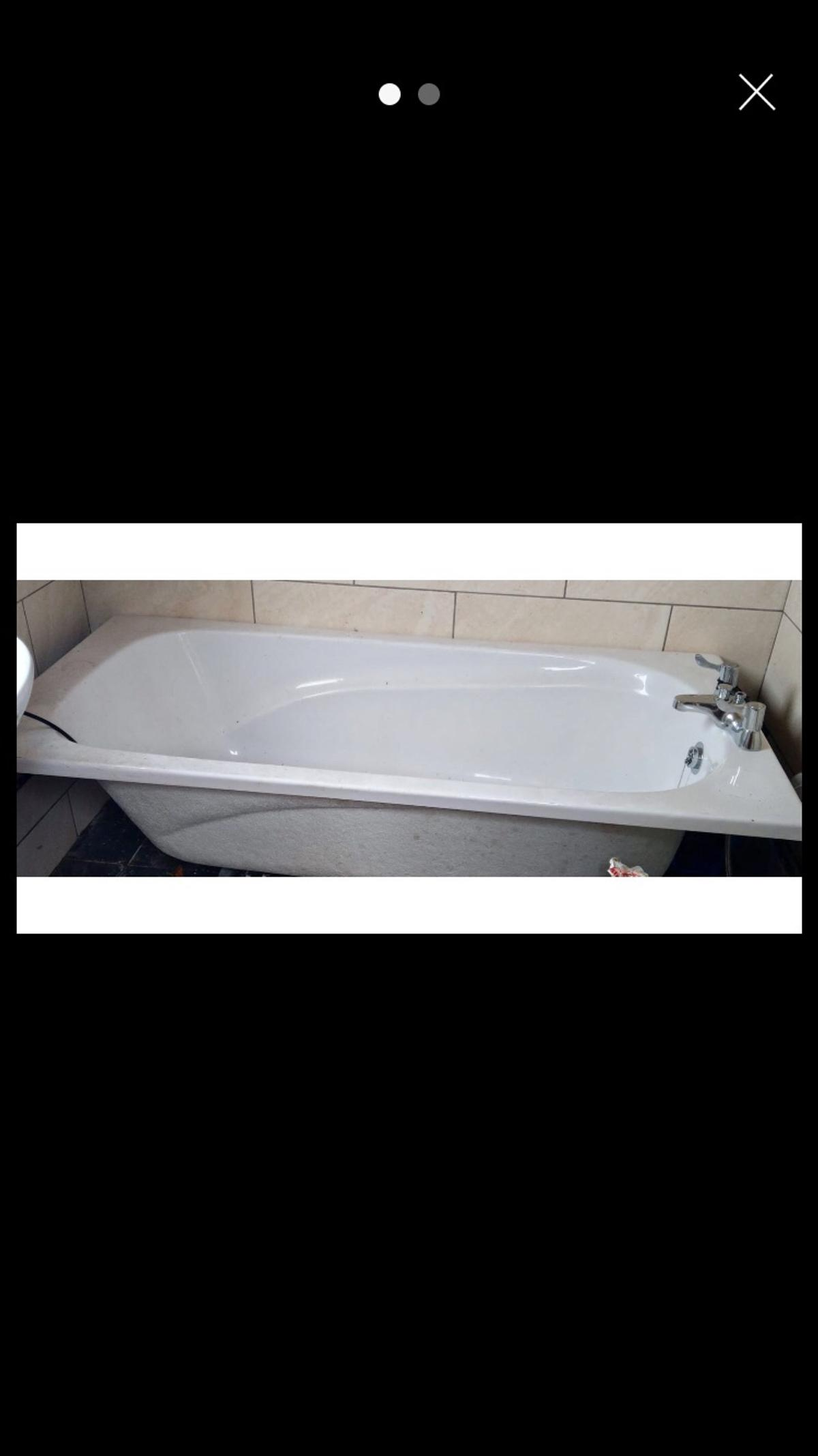 Bathtub good condition Hardly used Size 1700mm Stored in the garage during house move Taps were bought separately but included within price