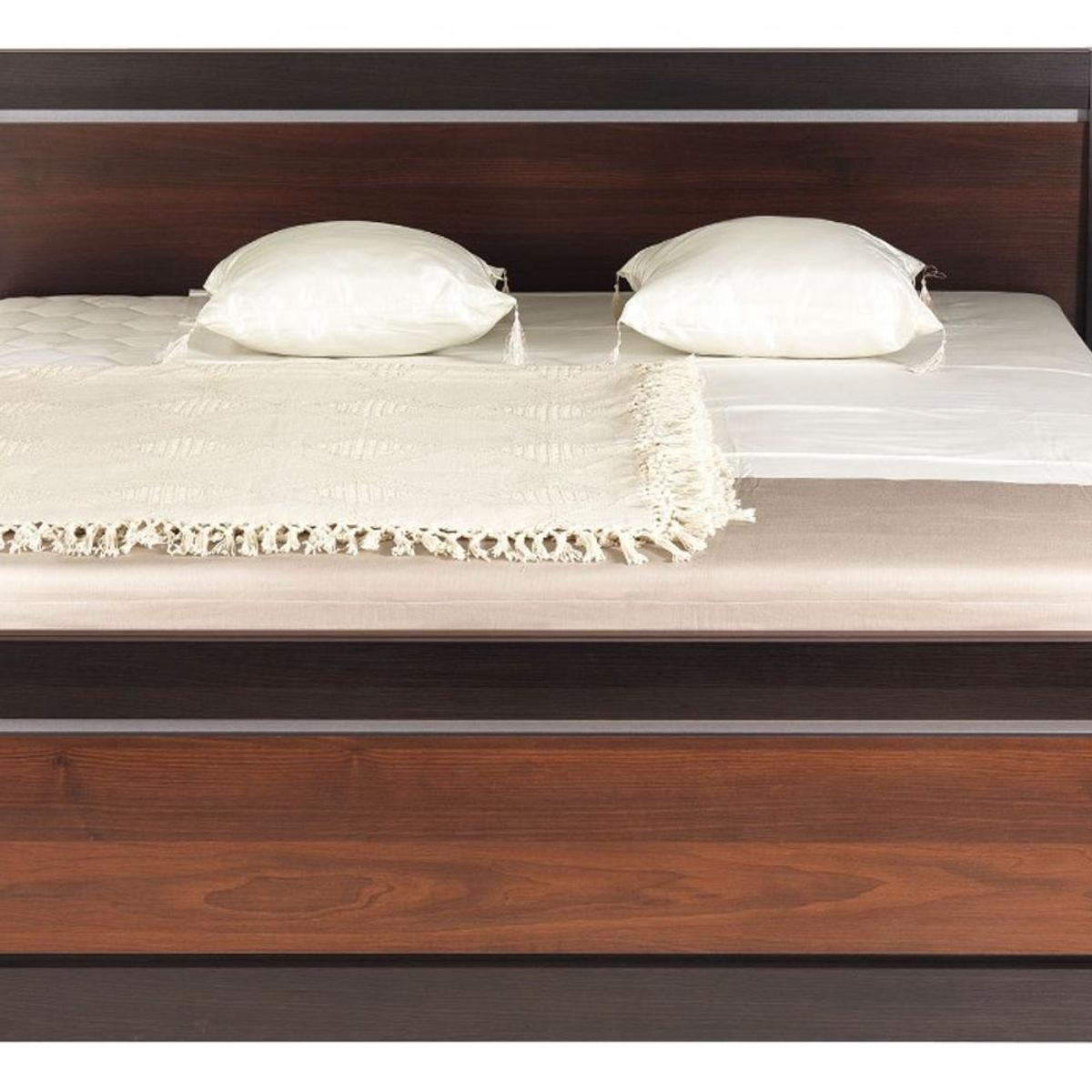 Dark walnut & milano oak colour  Width: 172.6cm  Depth: 212.7cm  Height: 90cm  THE PRICE DOES NOT INCLUDE MATTRESS !!!