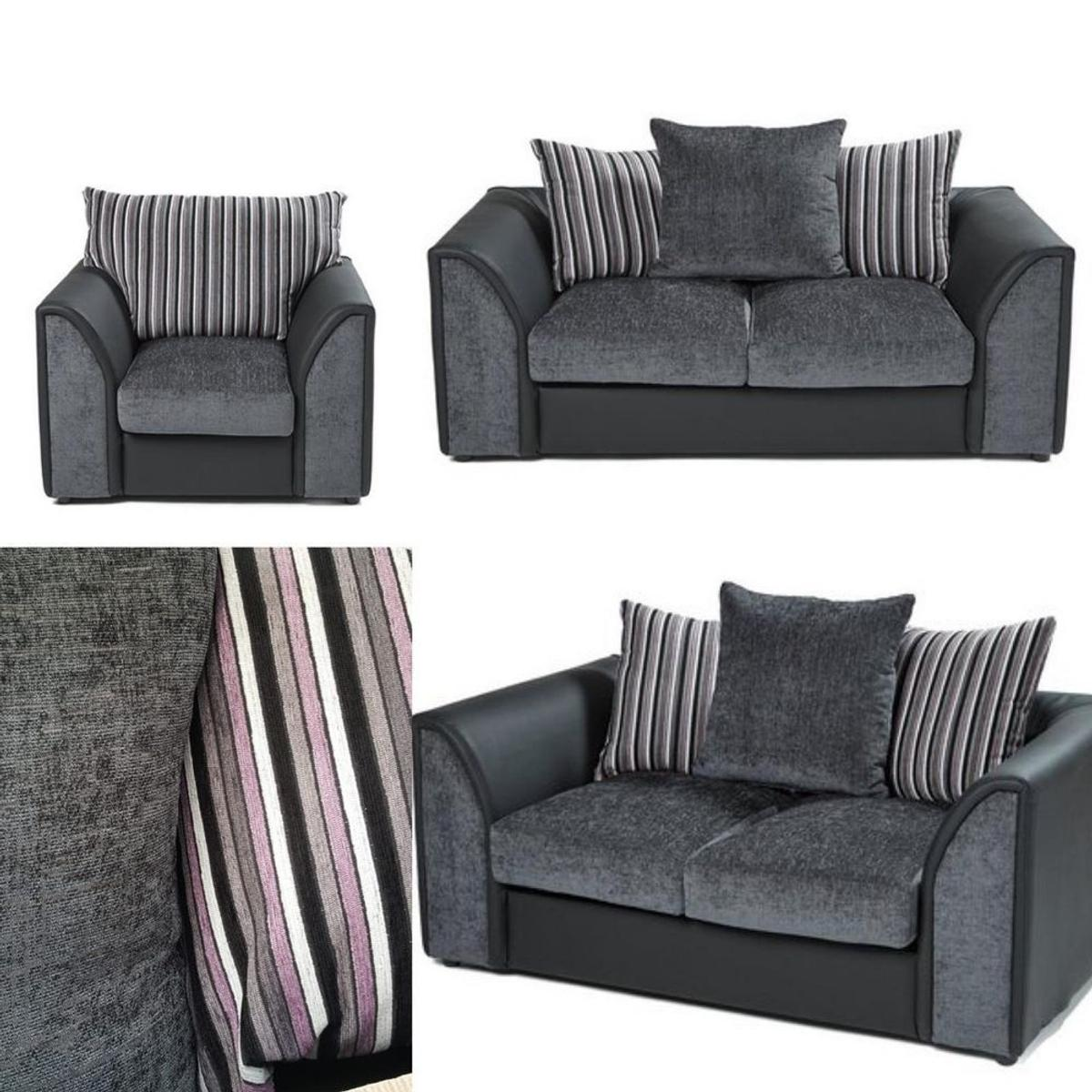 Cool 1 3 Seater Couch Sofa Black Grey F Leather In M350Bn Onthecornerstone Fun Painted Chair Ideas Images Onthecornerstoneorg