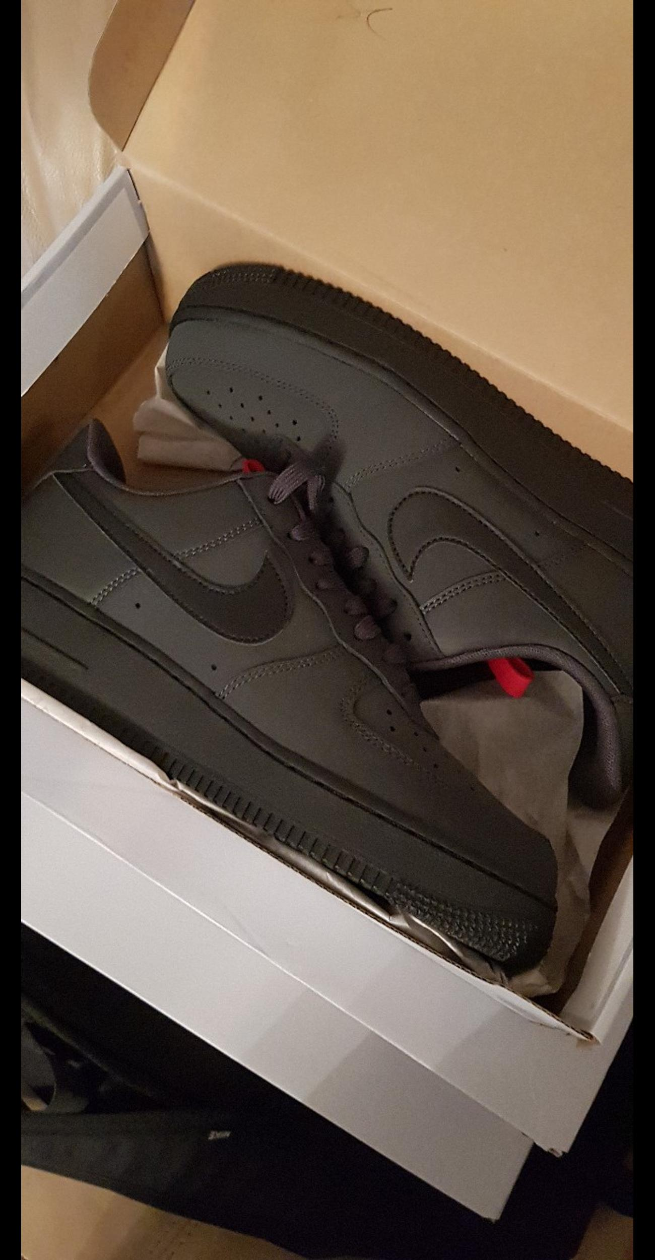 suede air force 1 black and red