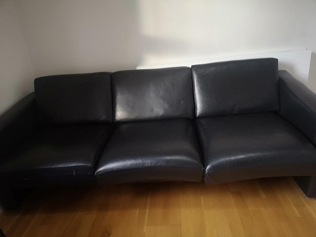 3 Seater Leather Contemporary Couch