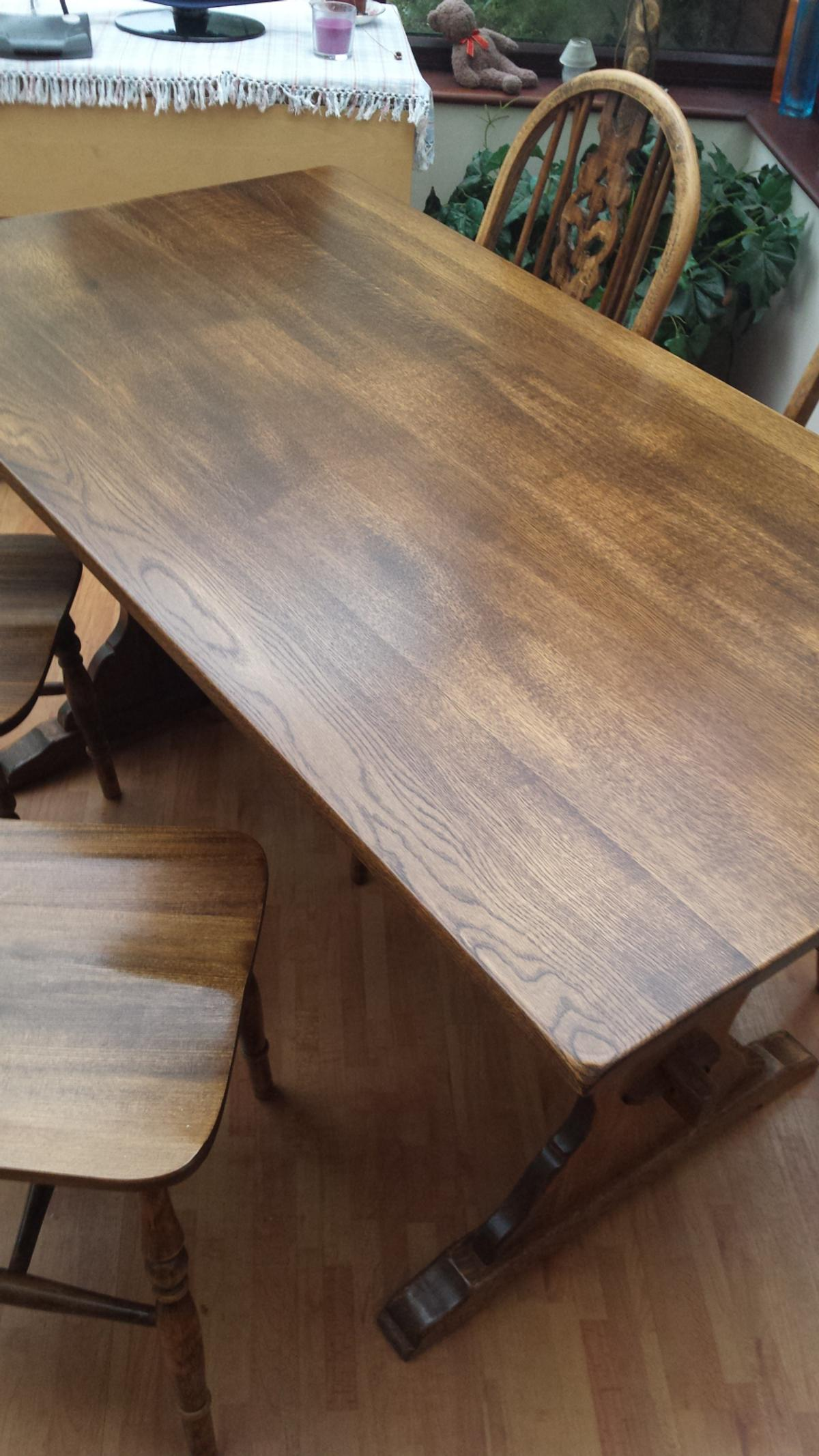 SOLID OAK DINING TABLE AND 9 CHAIRS in DY9 Dudley für 950,9 £ zum ...