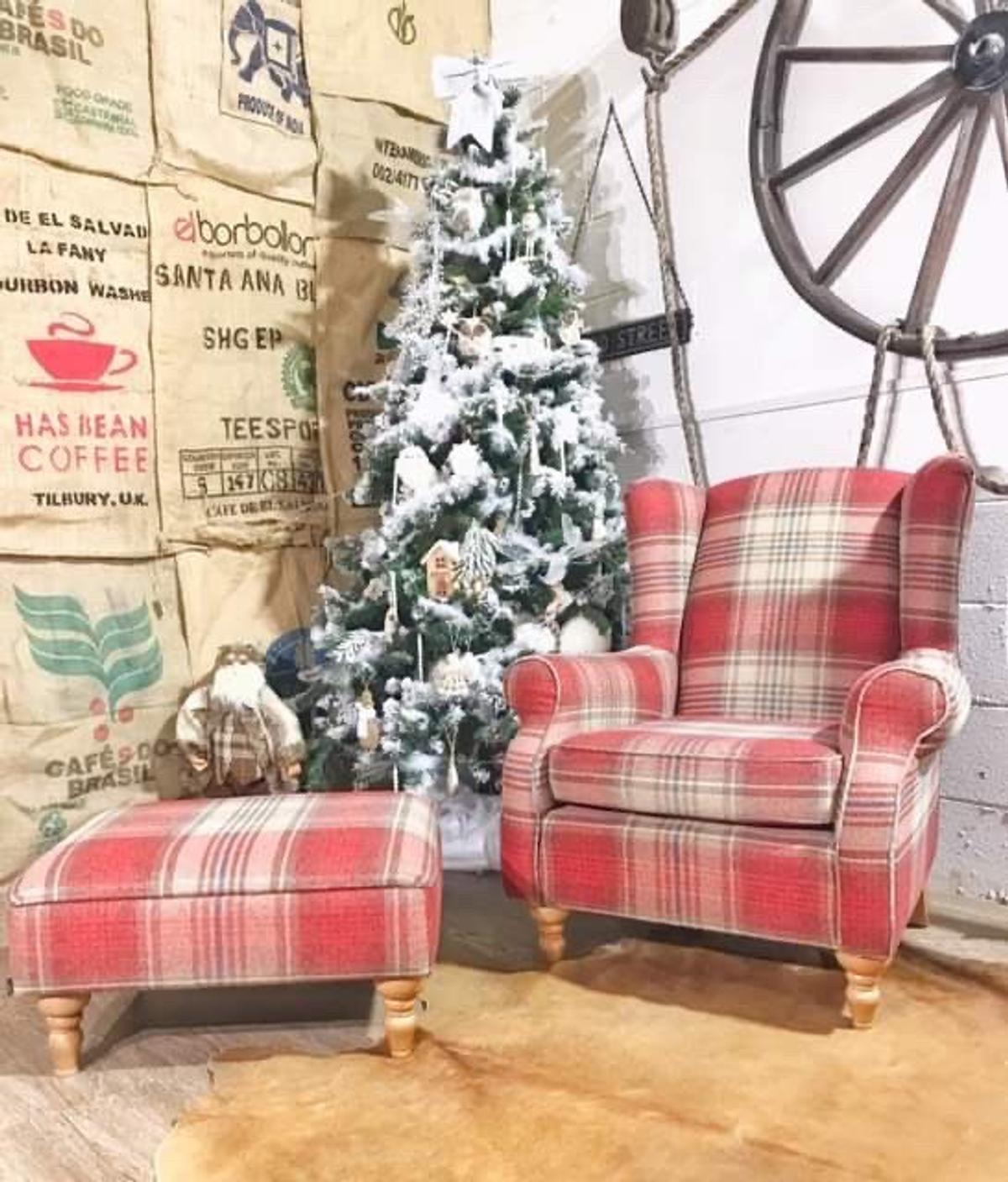 Next Sherlock Armchair Tartan + Footstool in M45 ...