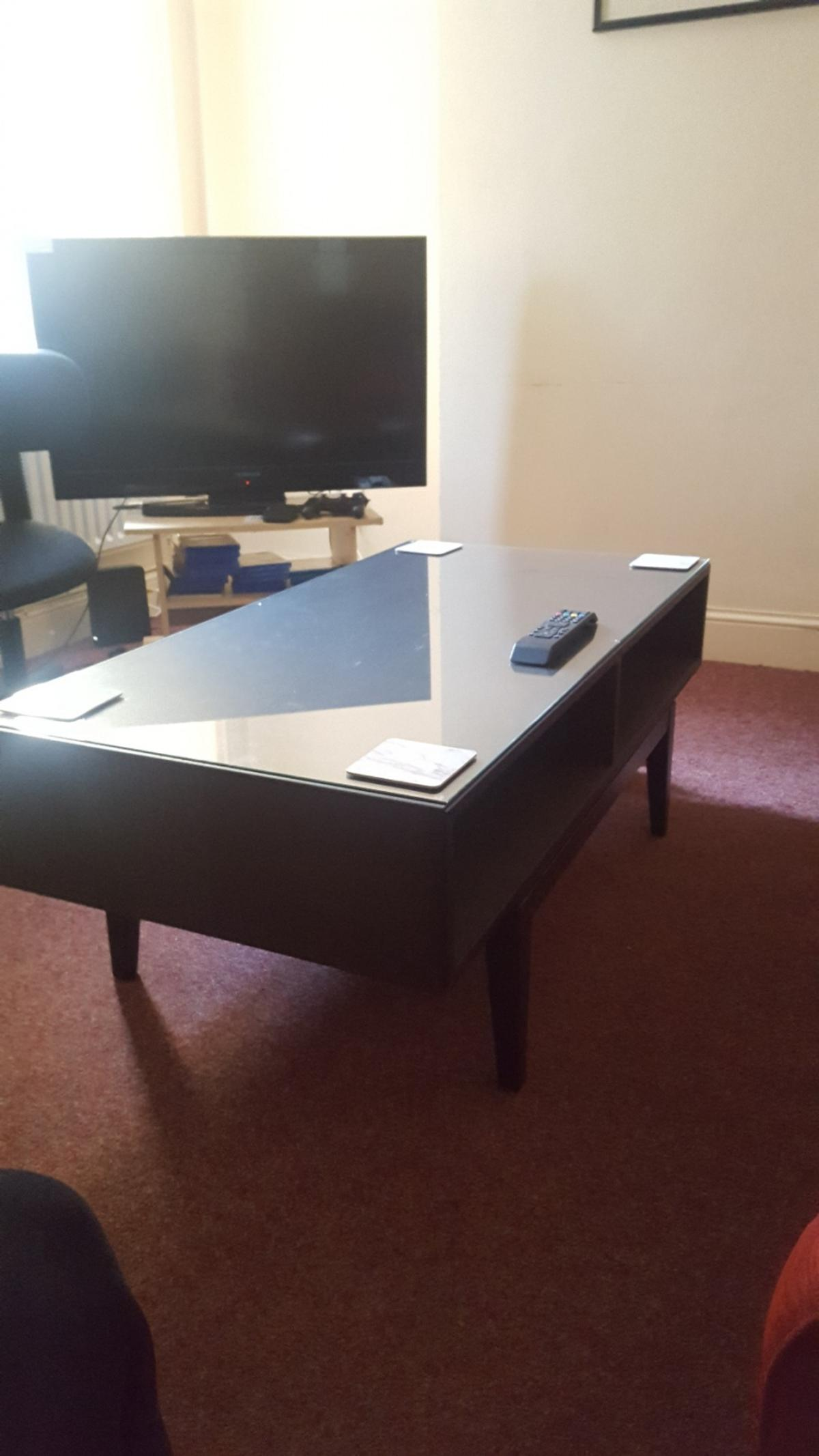 Original Price £95. V. Good condition. Glass top detaches for transport. Collection only