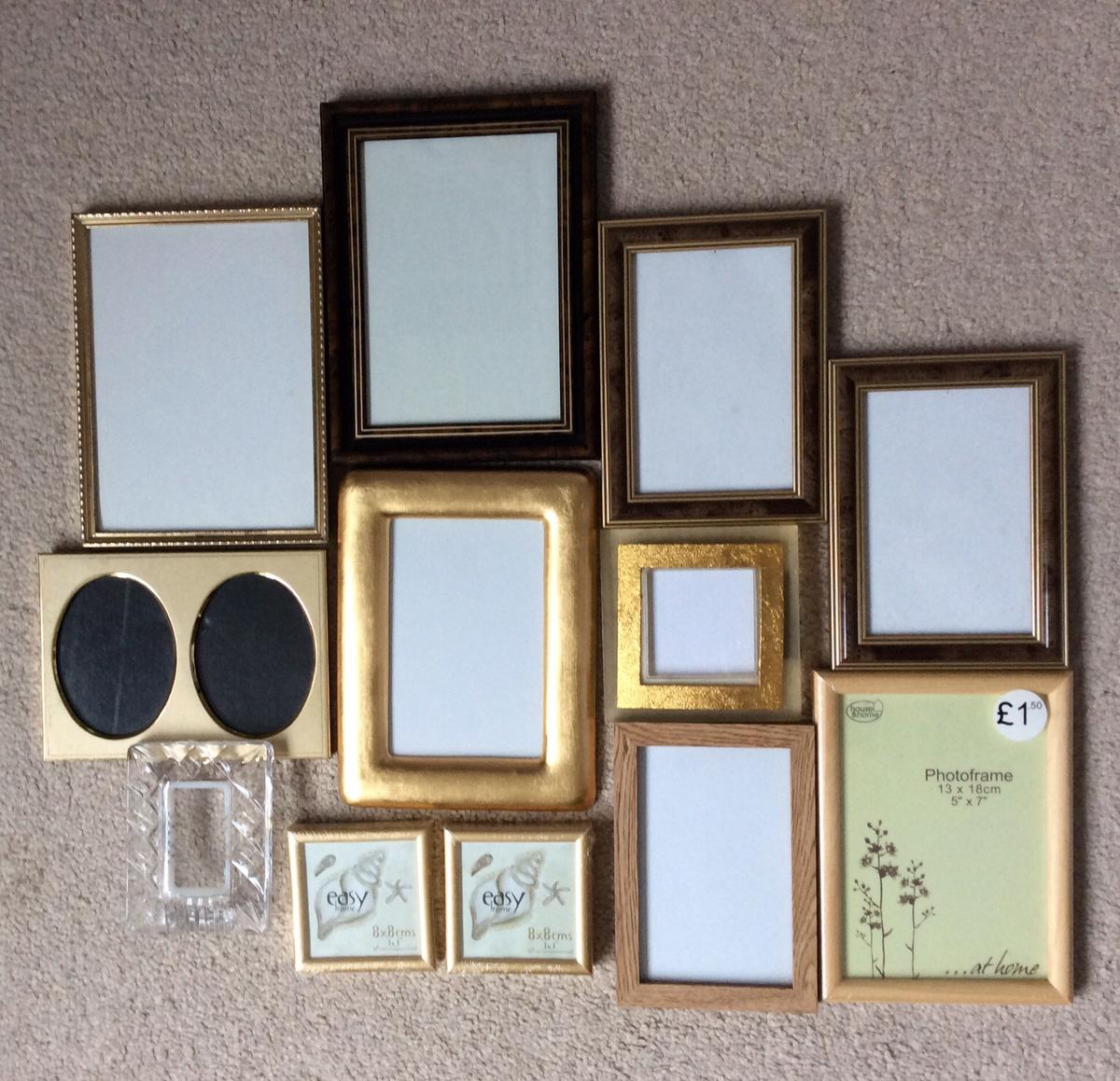 Selection of photo frames. Various sizes. Very good condition