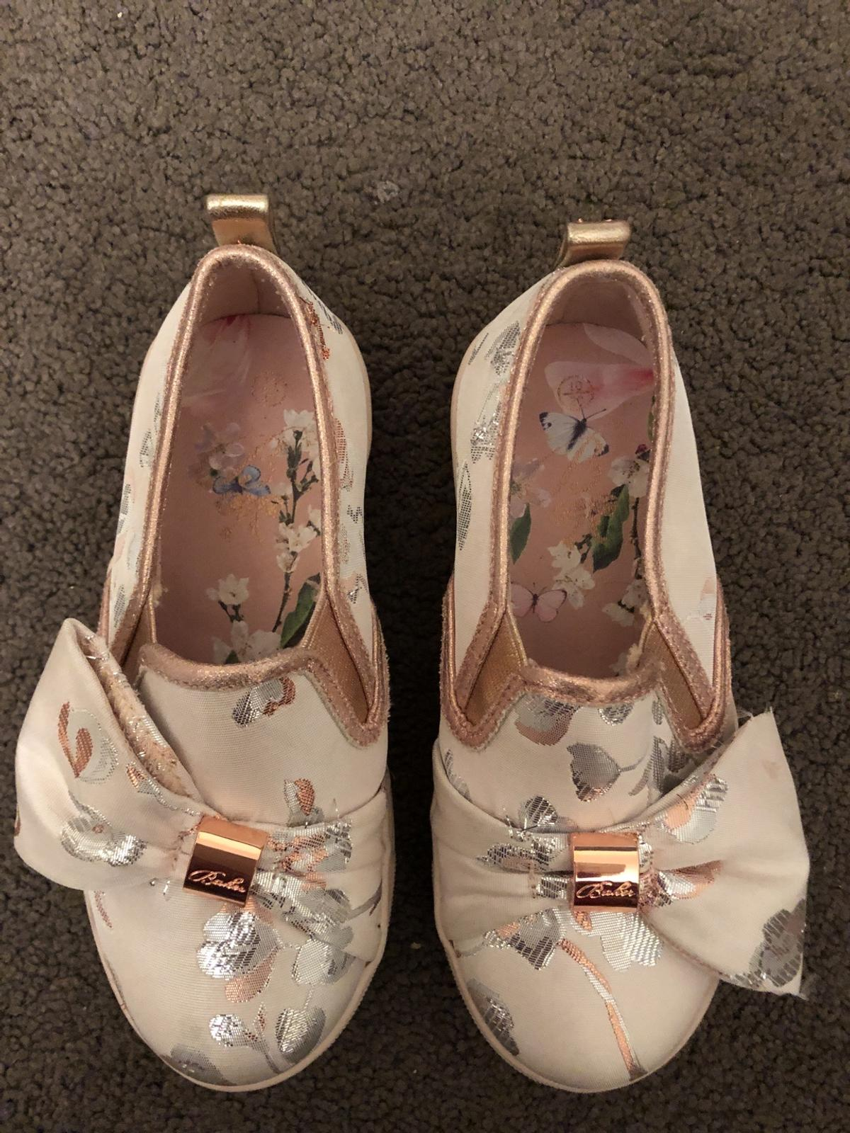Children's size 10 ted baker pumps beeb worn twice