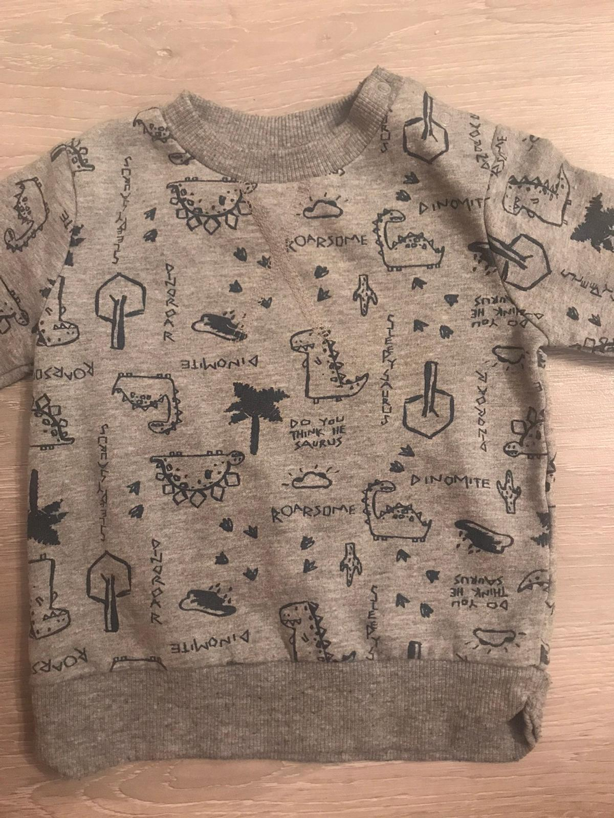 Baby boys Dino tracksuit, 9-12 months. Perfect condition.  All items come from a pet and smoke free home. Collection from Harborne ONLY.