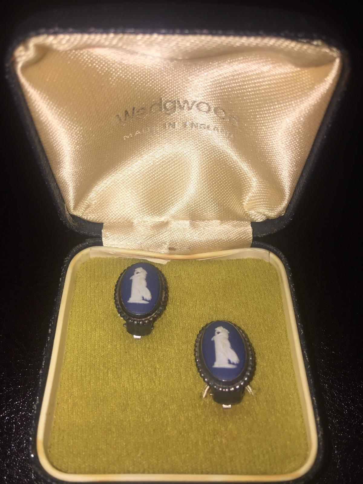 Antique Wedgwood sterling silver earrings Fully hallmarked , In great condition and in original box Check photos Open for offers