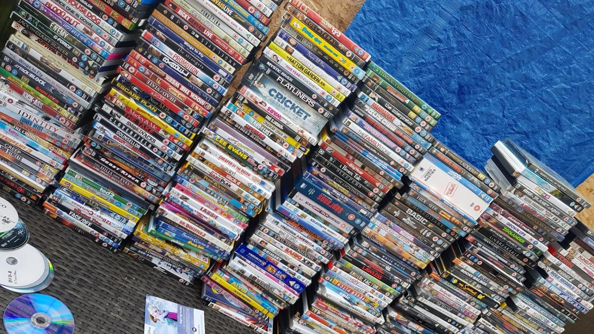loads of different titles kids and adults over 300 DVDs