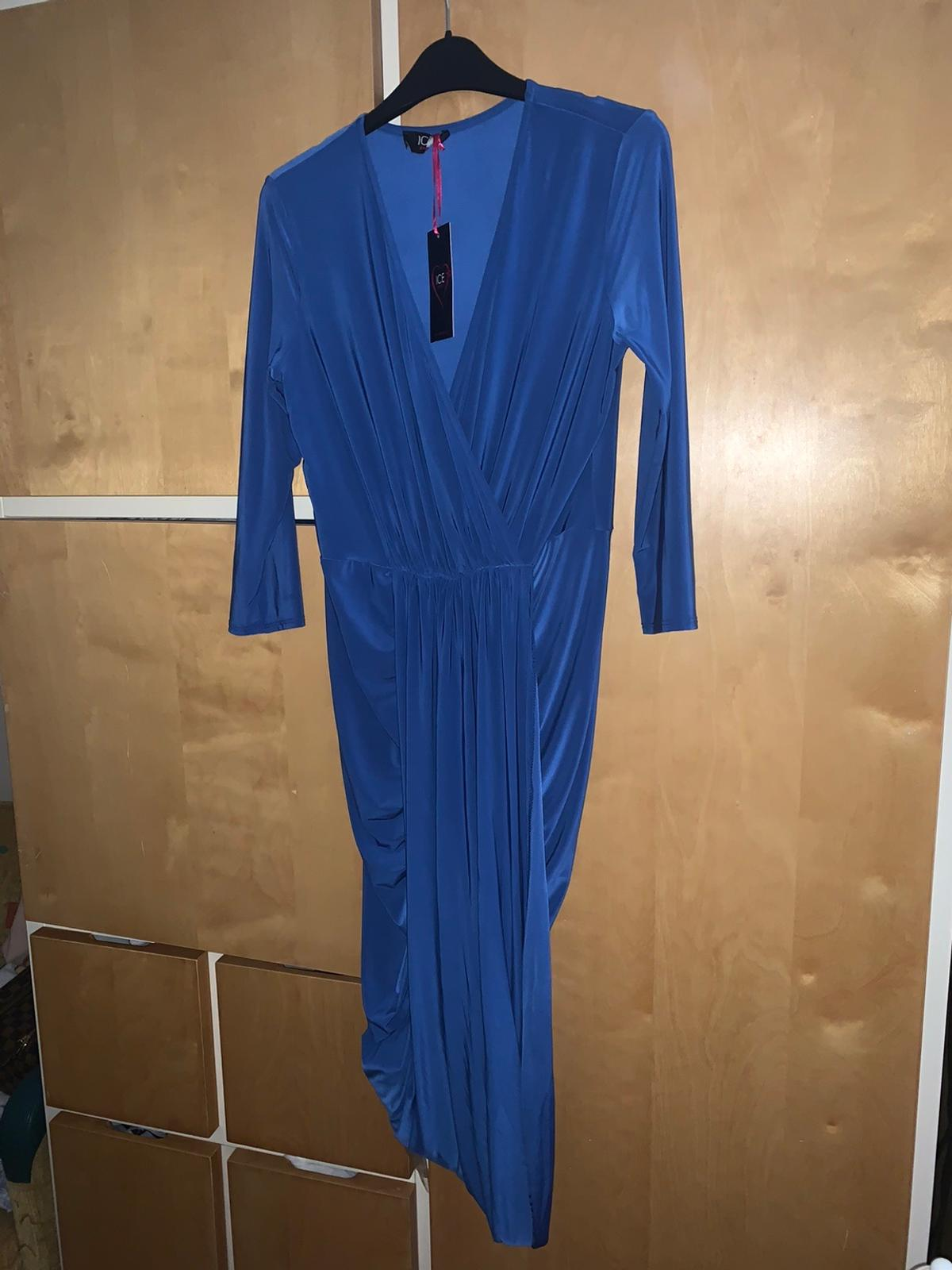 Gorgeous cobalt blue maxi dress brand new with tags size 14 but would fit 12-14