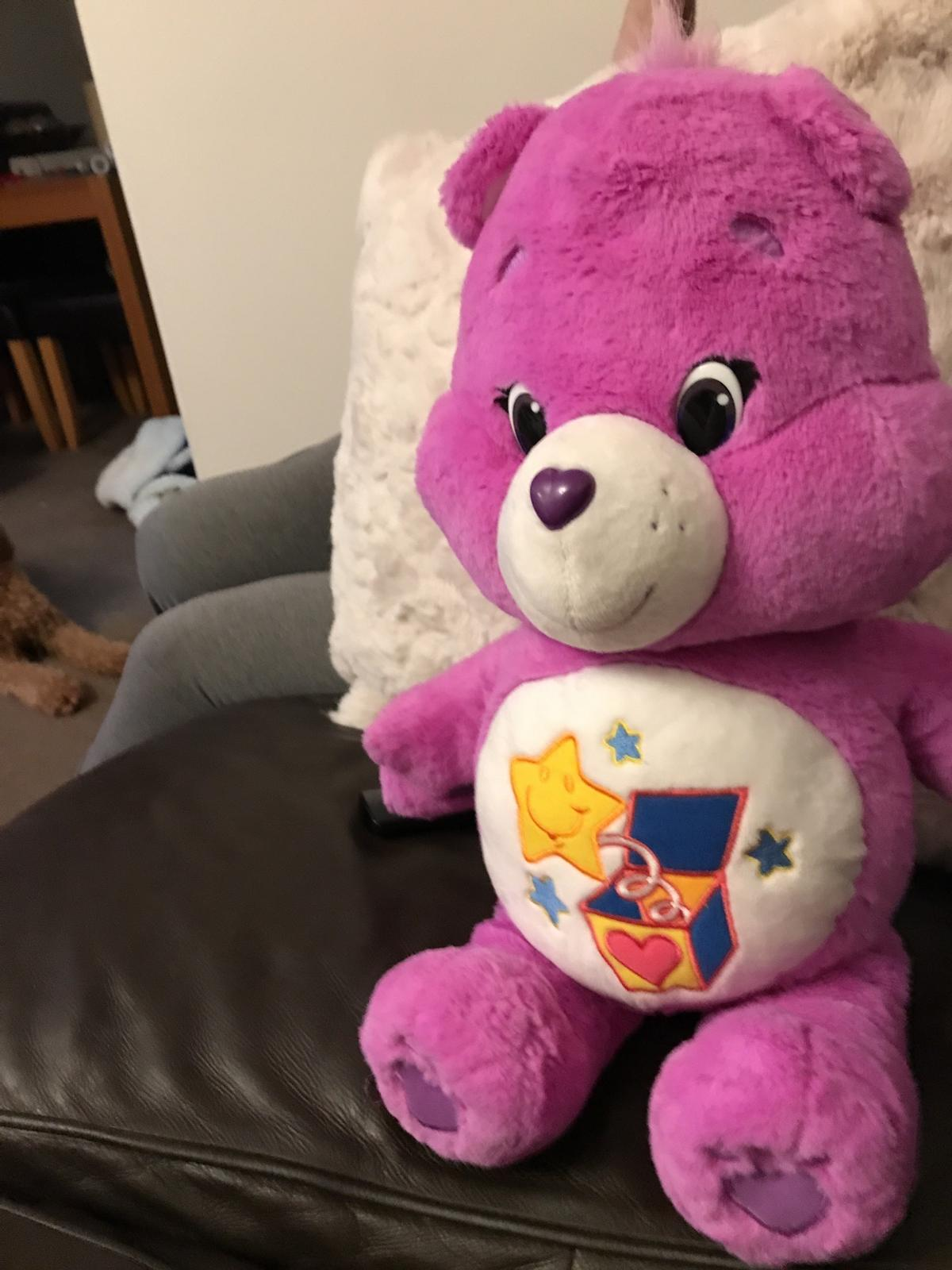 Large care bear in excellent condition comes from Smoke free home care bear measures 21 inches in height make a fab present